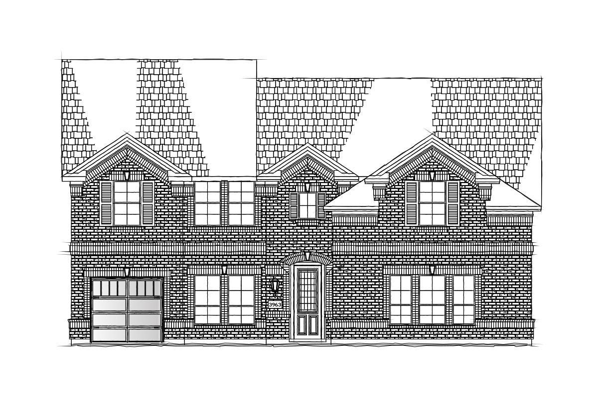 Exterior featured in the Hartford III By Grand Homes in Dallas, TX