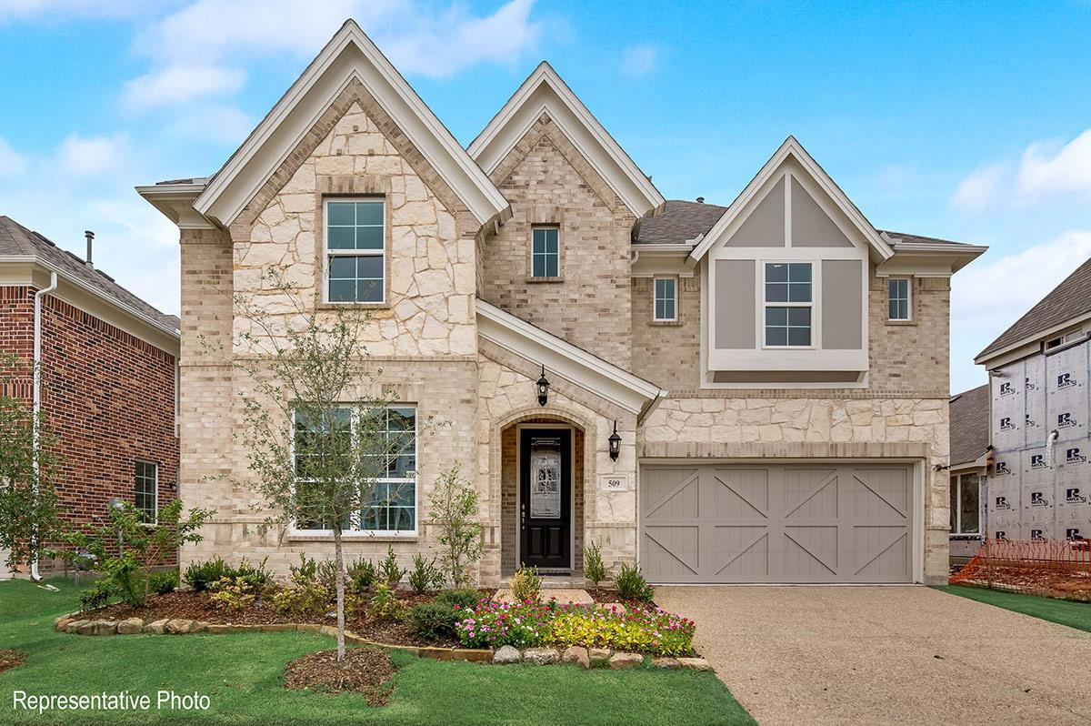 Exterior featured in the Charleston II By Grand Homes in Dallas, TX