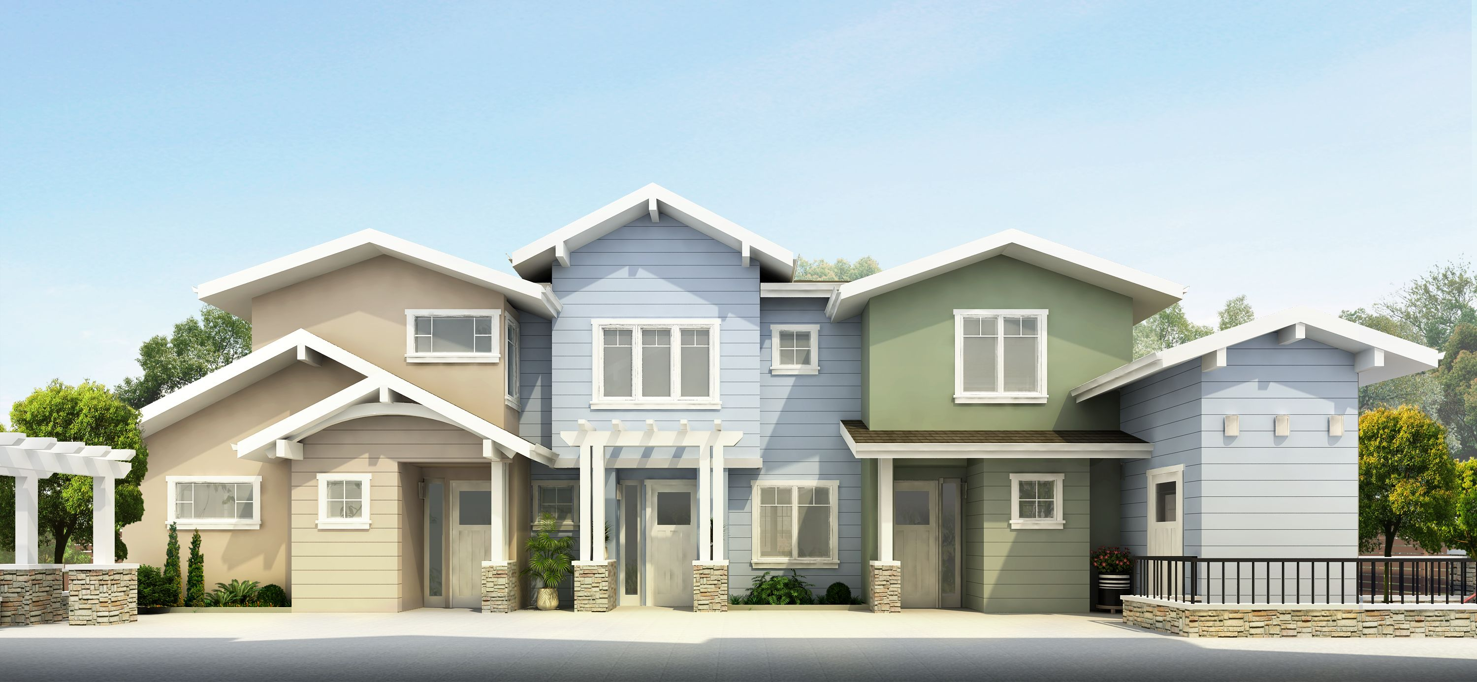 Exterior featured in the Unit 7 By Flynn Town Home Estates  in San Jose, CA