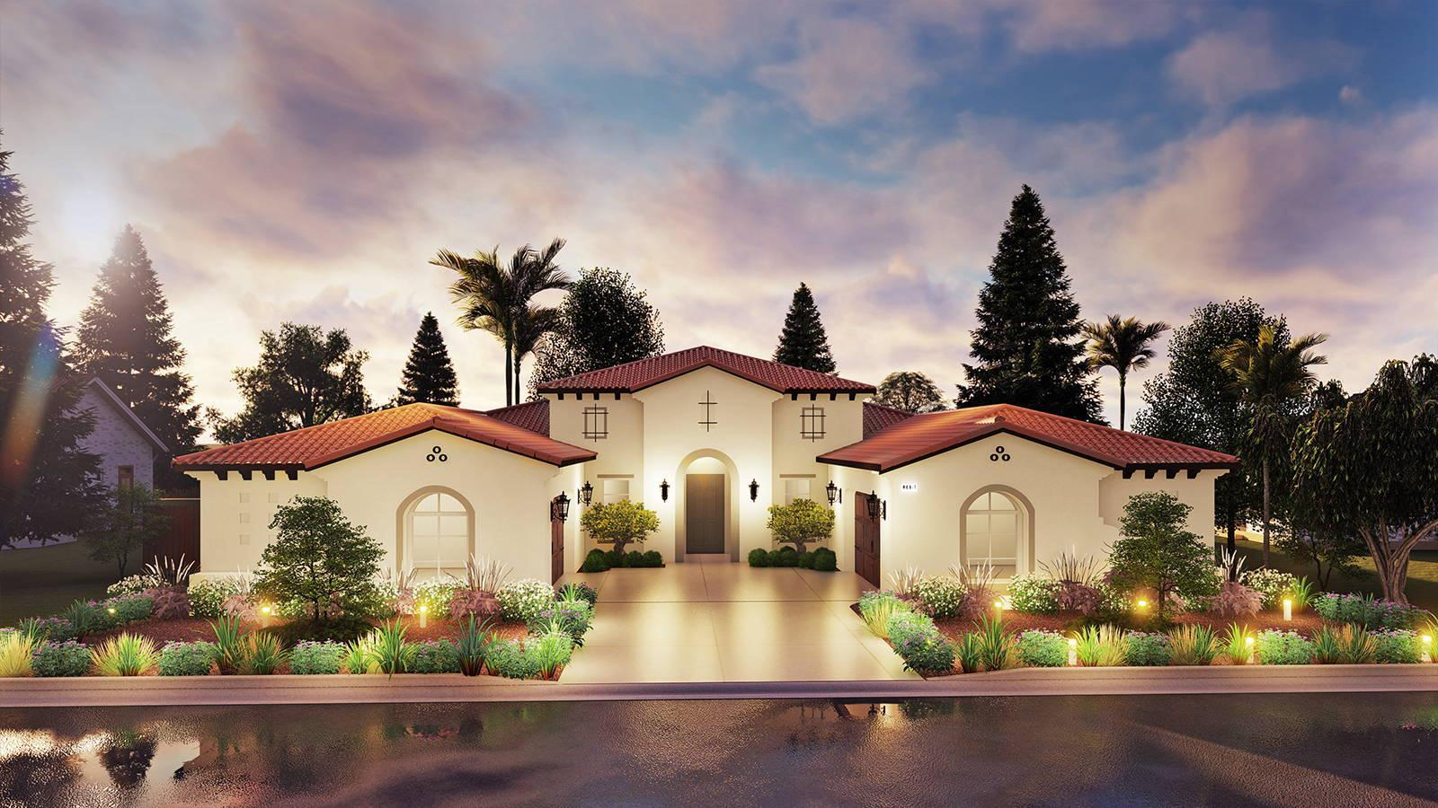 Exterior featured in the Residence 7 By Granville Homes  in Fresno, CA