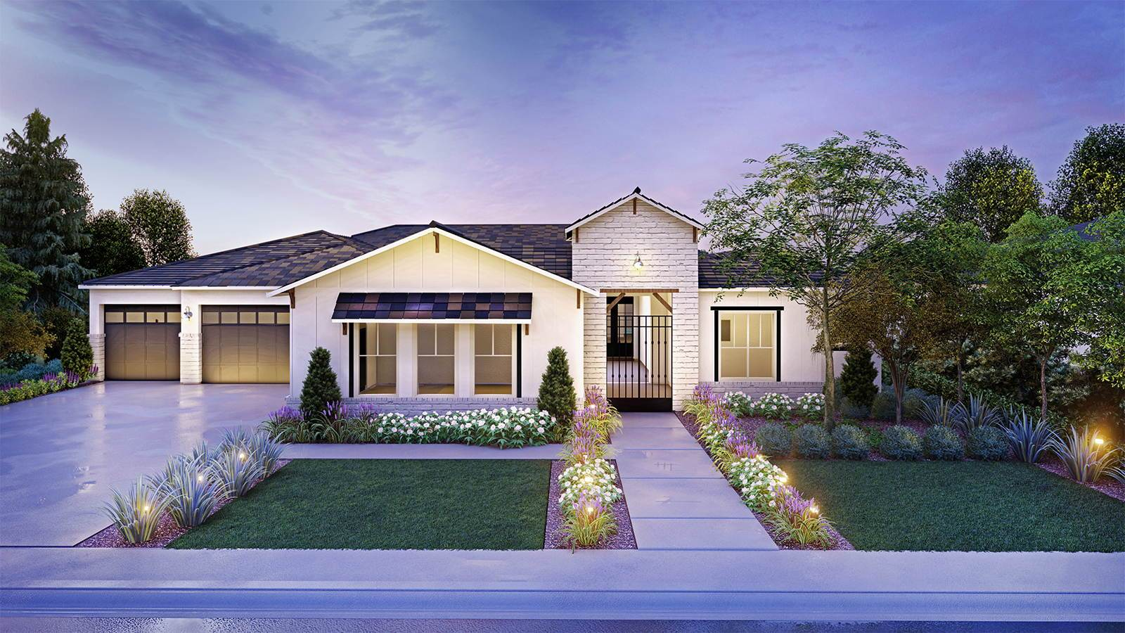 Exterior featured in the Residence 5 By Granville Homes  in Fresno, CA