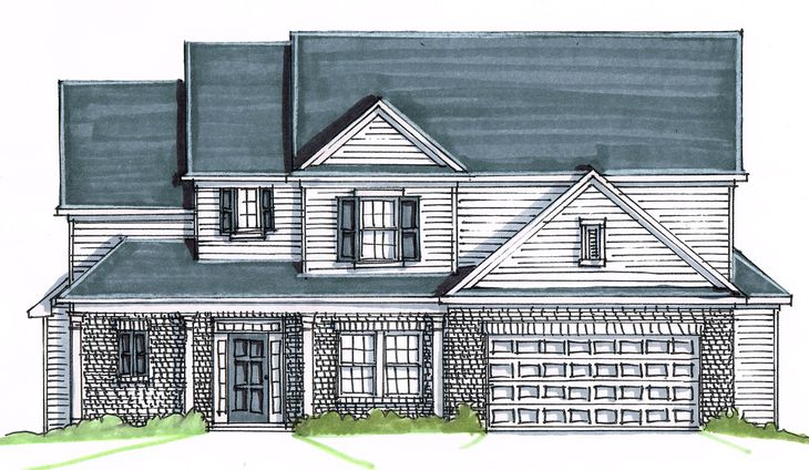 The River Oak:Traditional Elevation