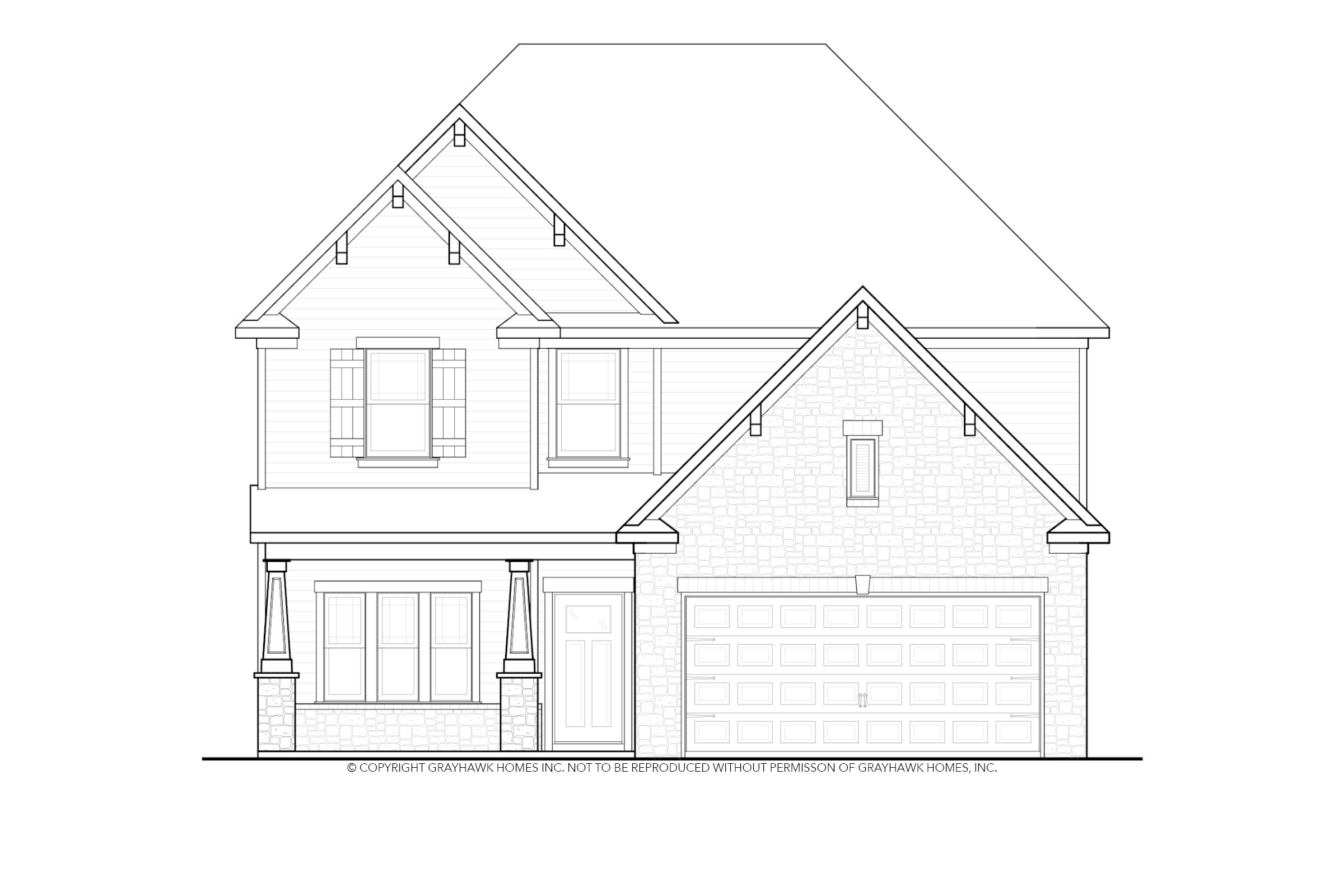 Exterior featured in the Longleaf By Grayhawk Homes in Columbus, GA