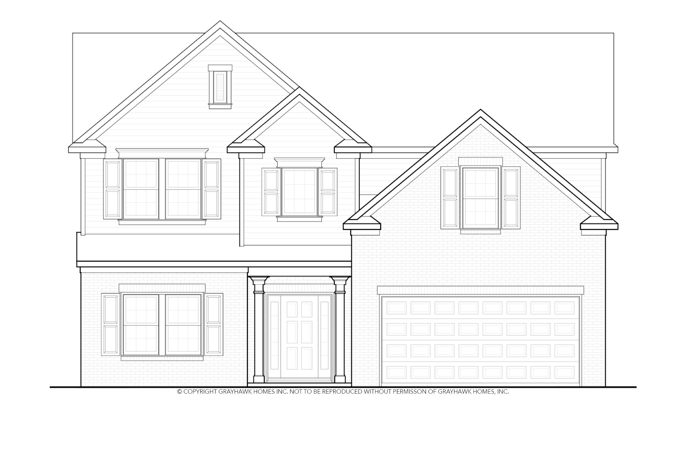 Exterior featured in the Sycamore By Grayhawk Homes in Auburn-Opelika, AL