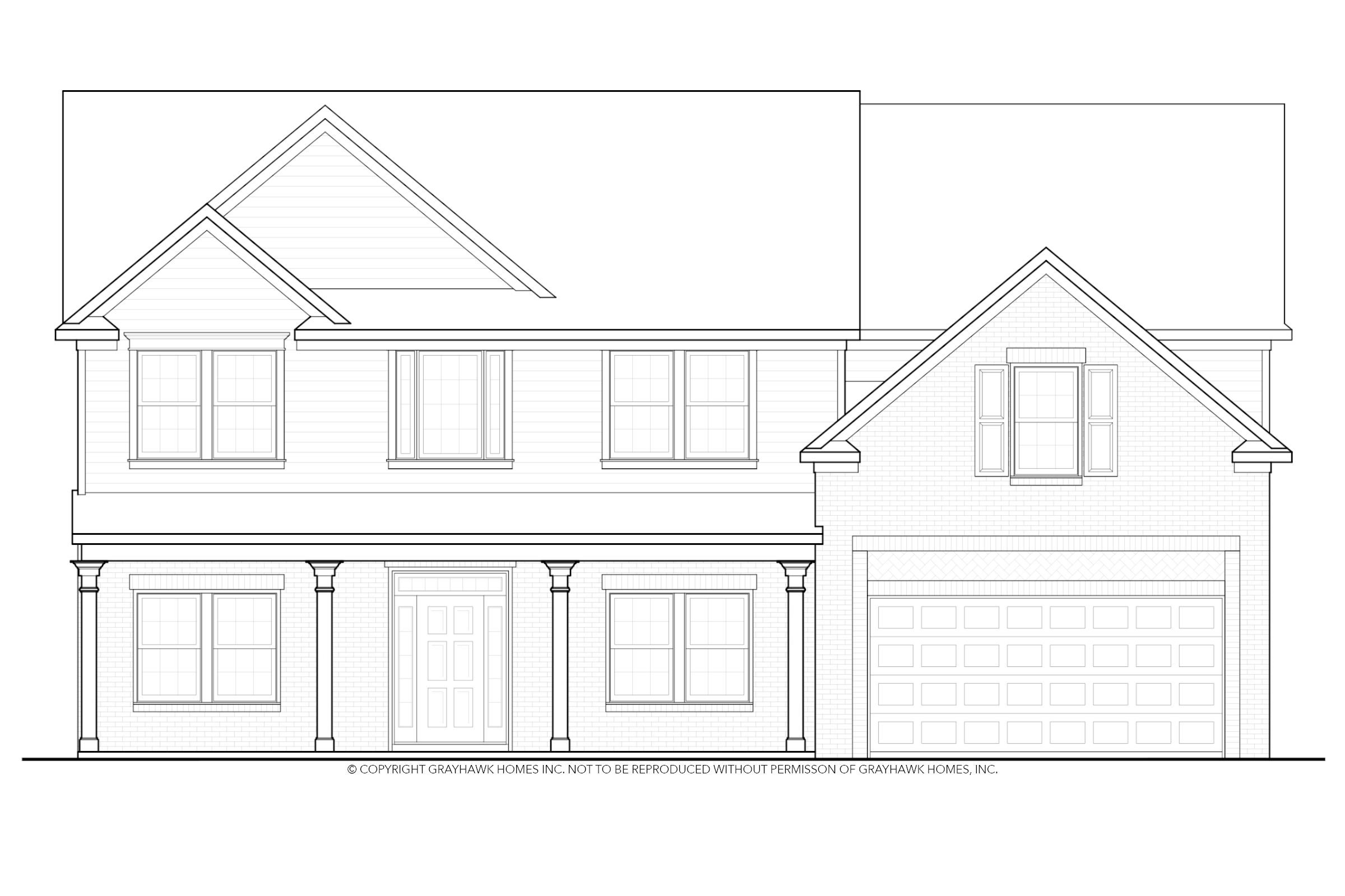 Exterior featured in the Elmwood By Grayhawk Homes in Columbus, GA