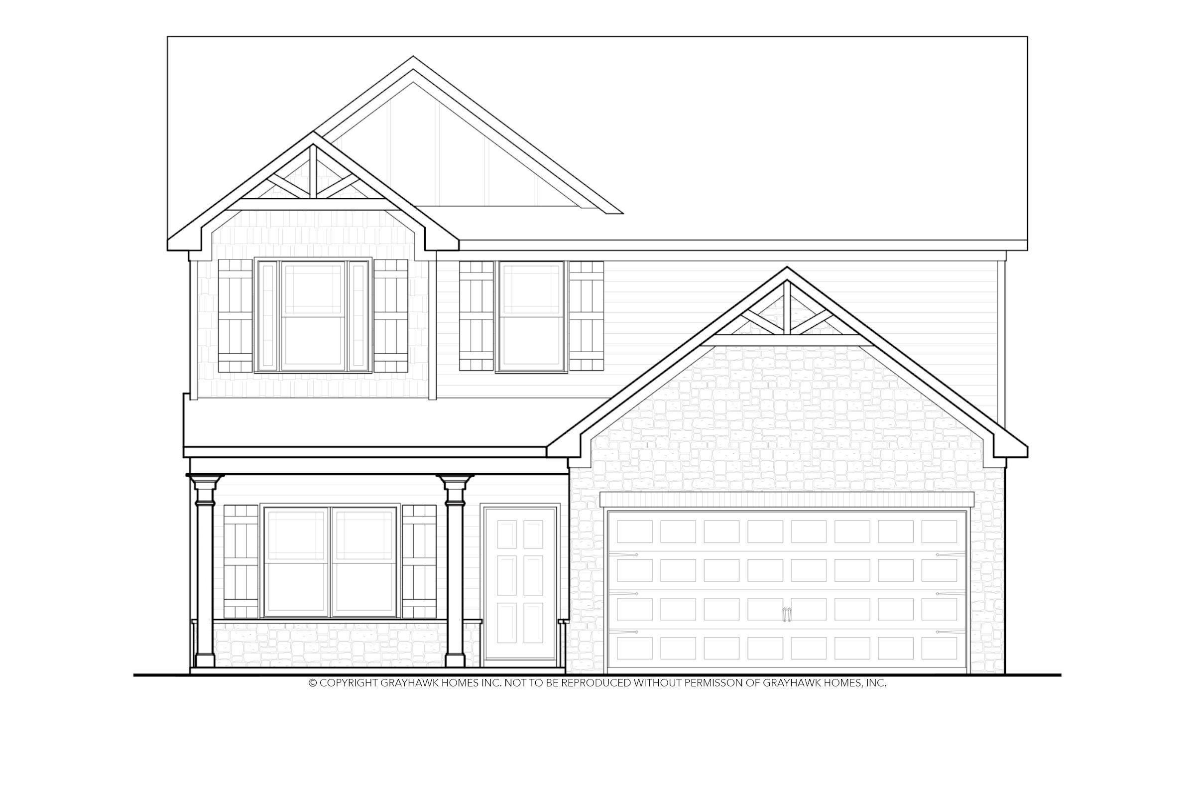 Exterior featured in the Derby By Grayhawk Homes in Auburn-Opelika, AL