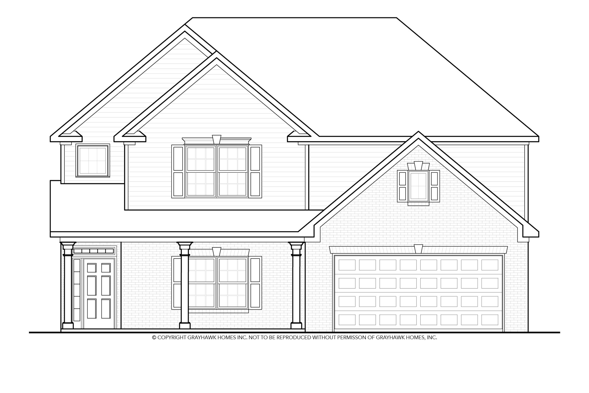 Exterior featured in the Bailey By Grayhawk Homes in Auburn-Opelika, AL