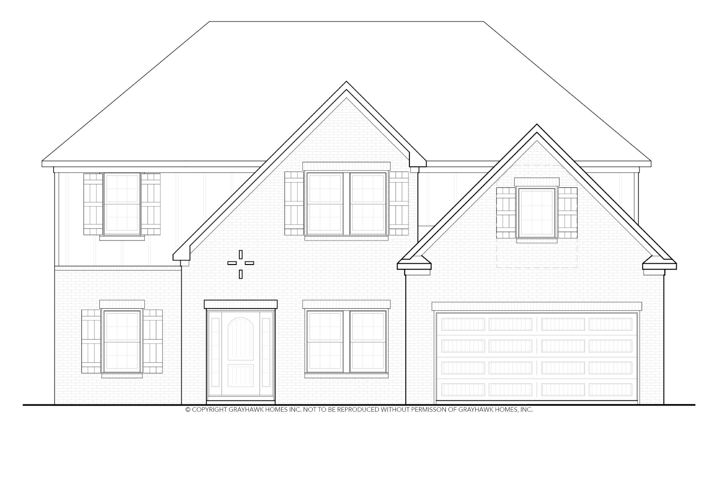 Exterior featured in the Bedford By Grayhawk Homes in Auburn-Opelika, AL