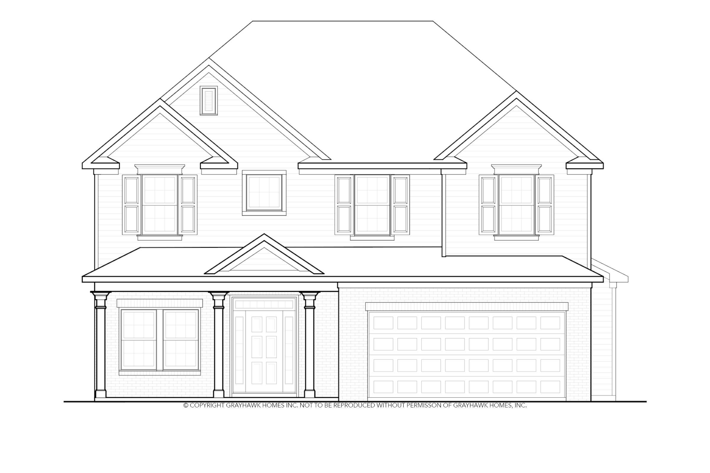 Exterior featured in the Coventry By Grayhawk Homes in Auburn-Opelika, AL