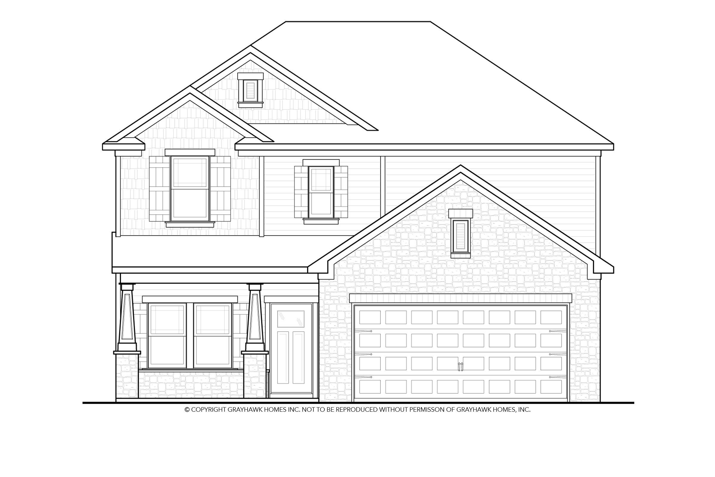 Exterior featured in the Derby II By Grayhawk Homes in Auburn-Opelika, AL