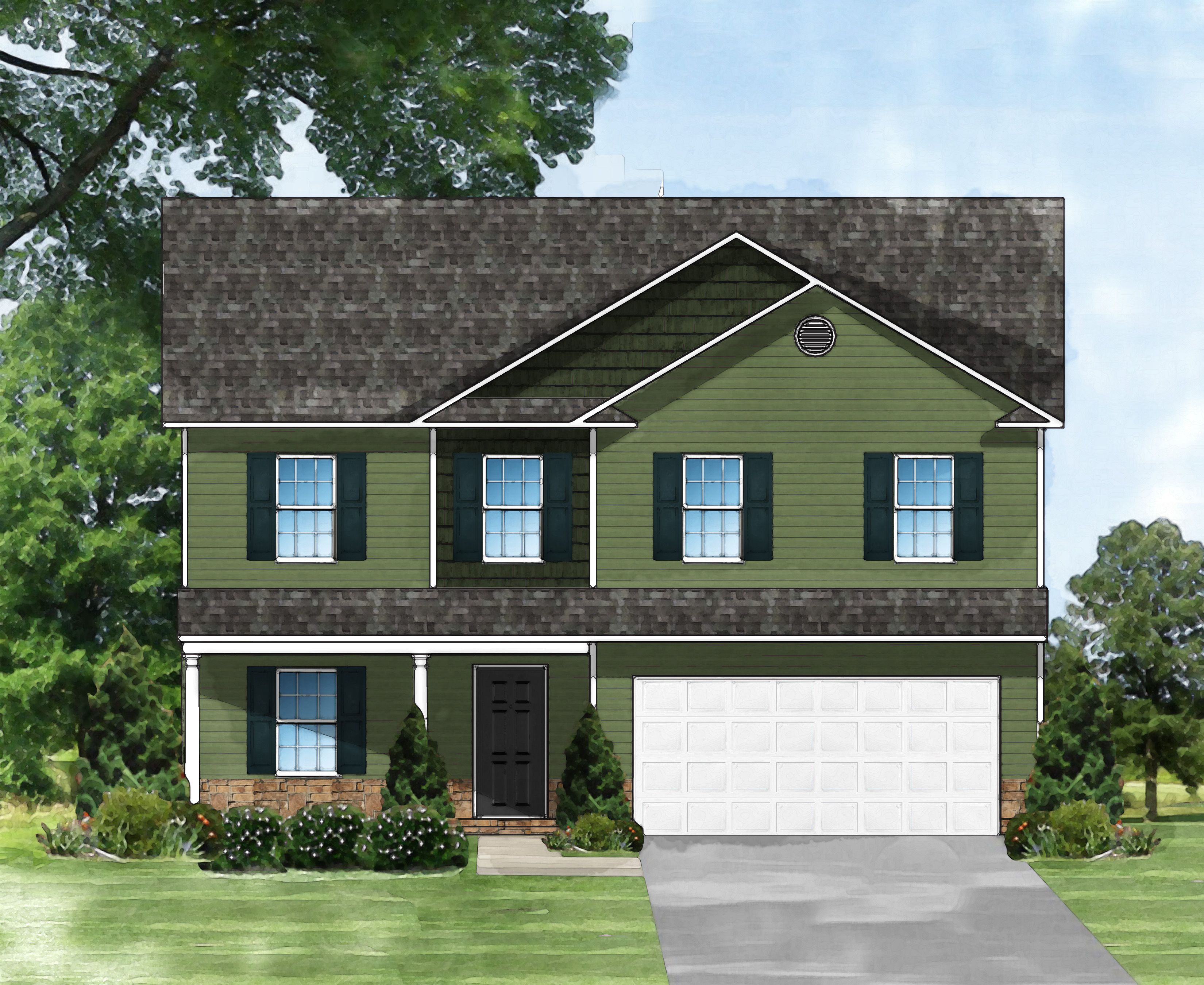 Exterior featured in the Davenport A By Great Southern Homes in Sumter, SC