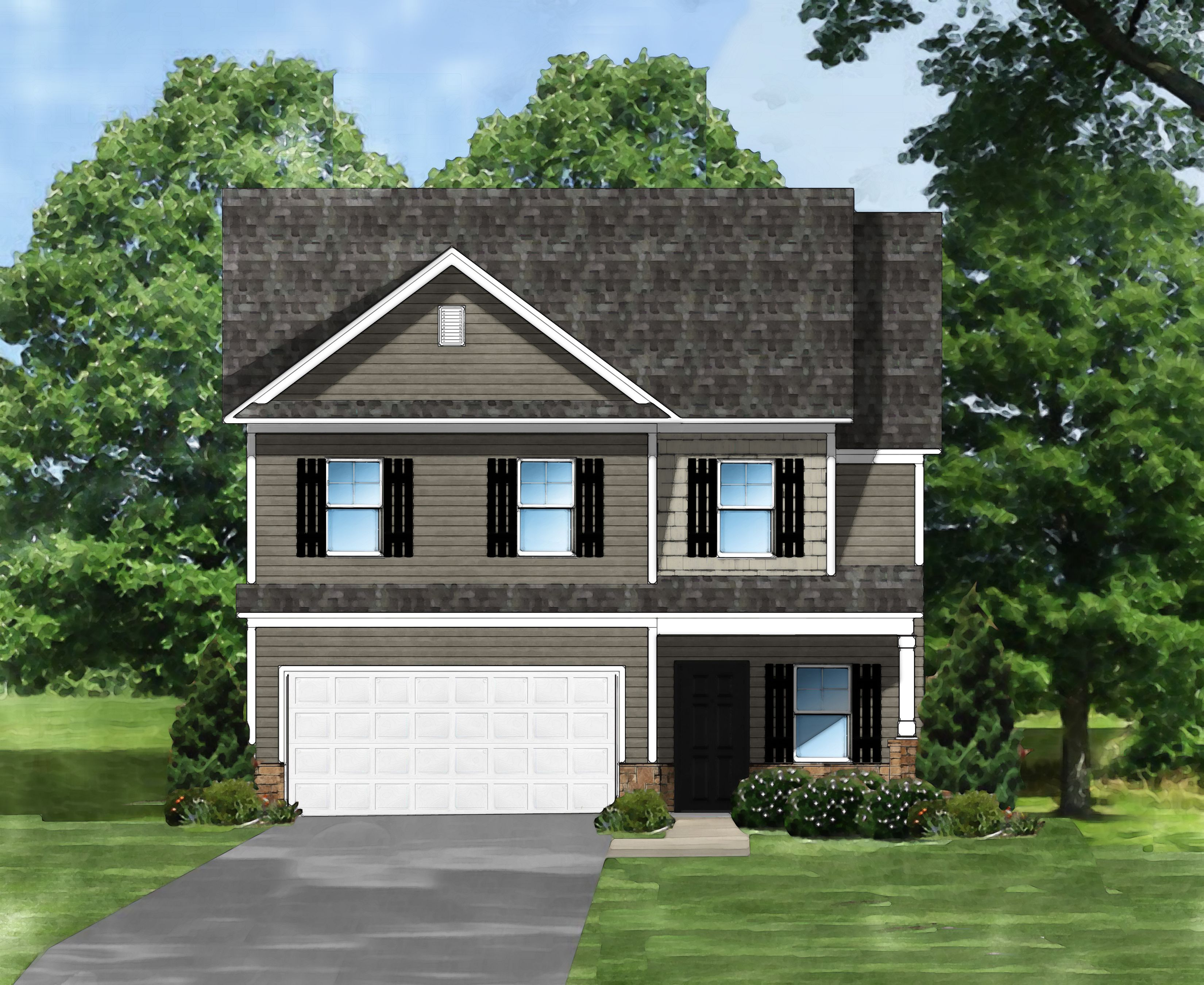 Exterior featured in the McClean B By Great Southern Homes in Greenville-Spartanburg, SC