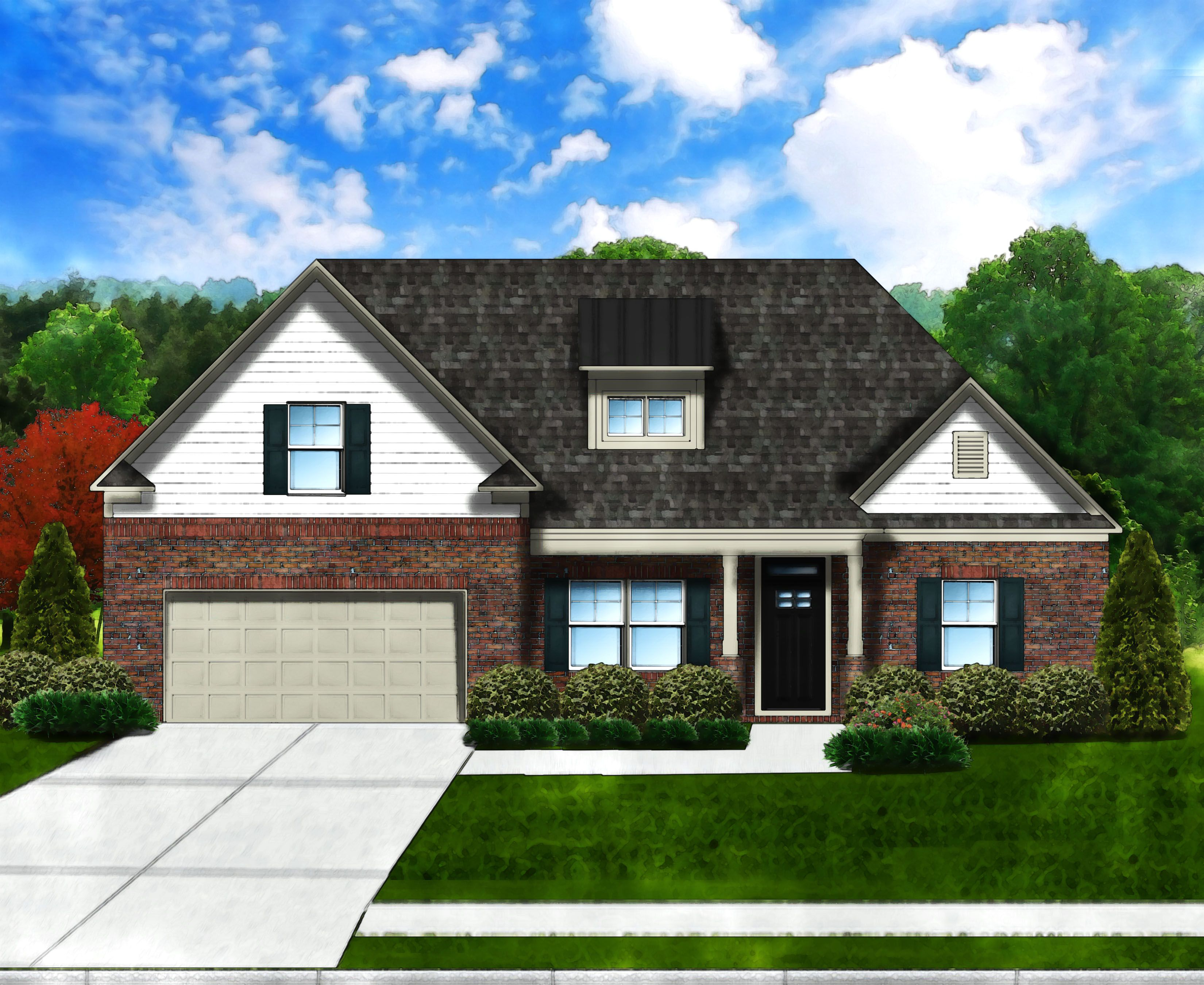 Exterior featured in the Edisto II B4 By Great Southern Homes in Greenville-Spartanburg, SC