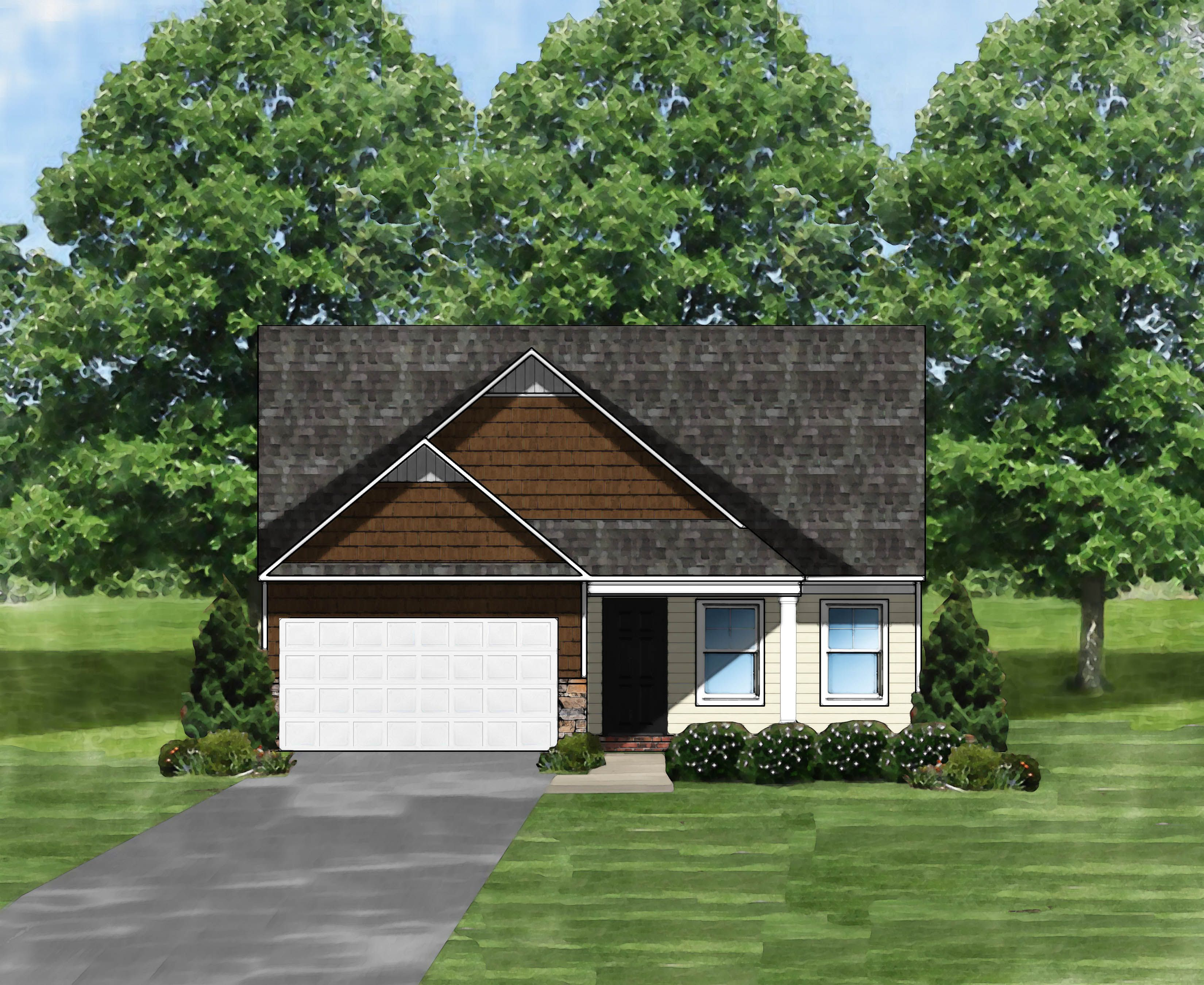Exterior featured in the Buckley II A By Great Southern Homes in Greenville-Spartanburg, SC
