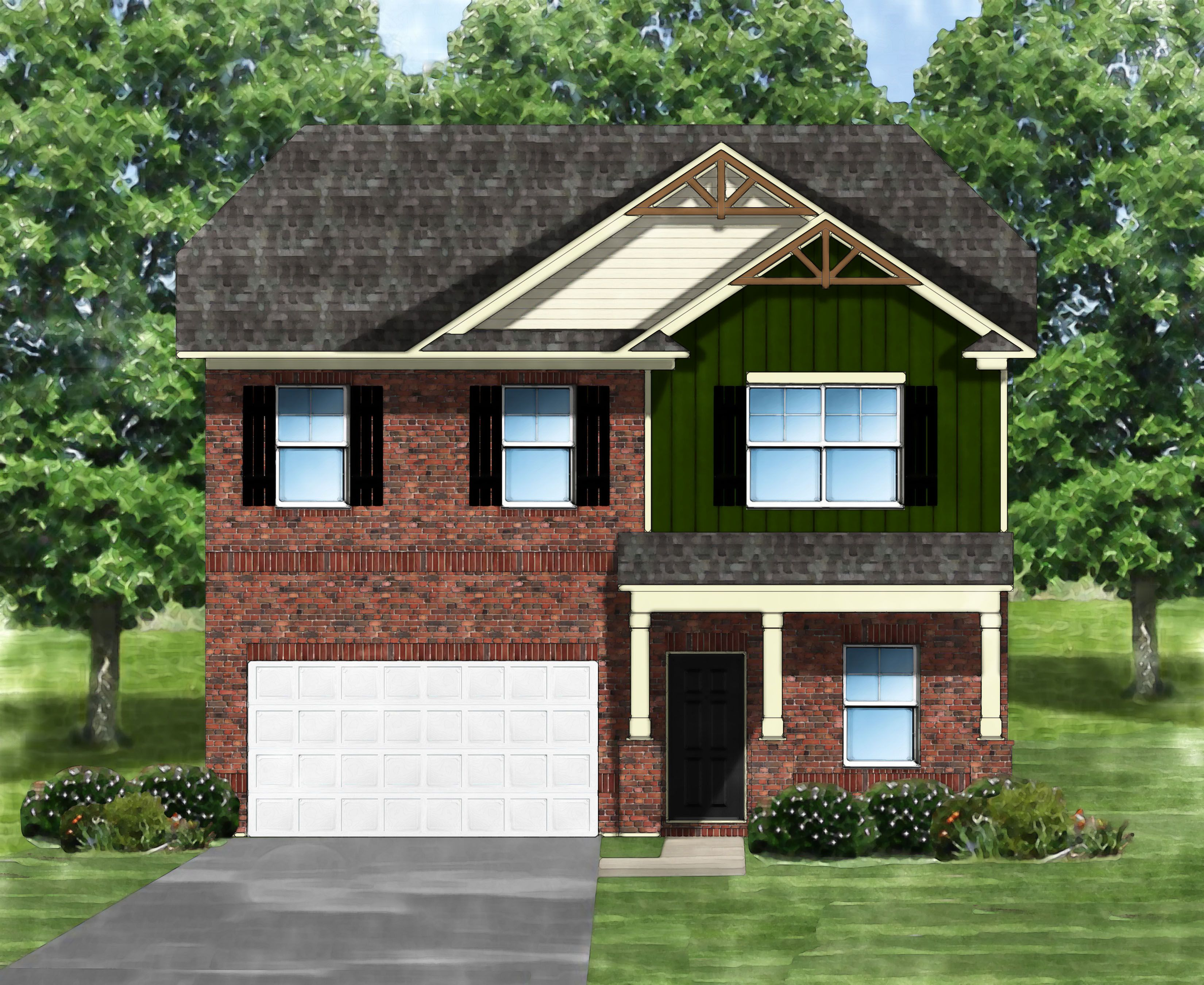 Exterior featured in the Bentcreek G By Great Southern Homes in Sumter, SC