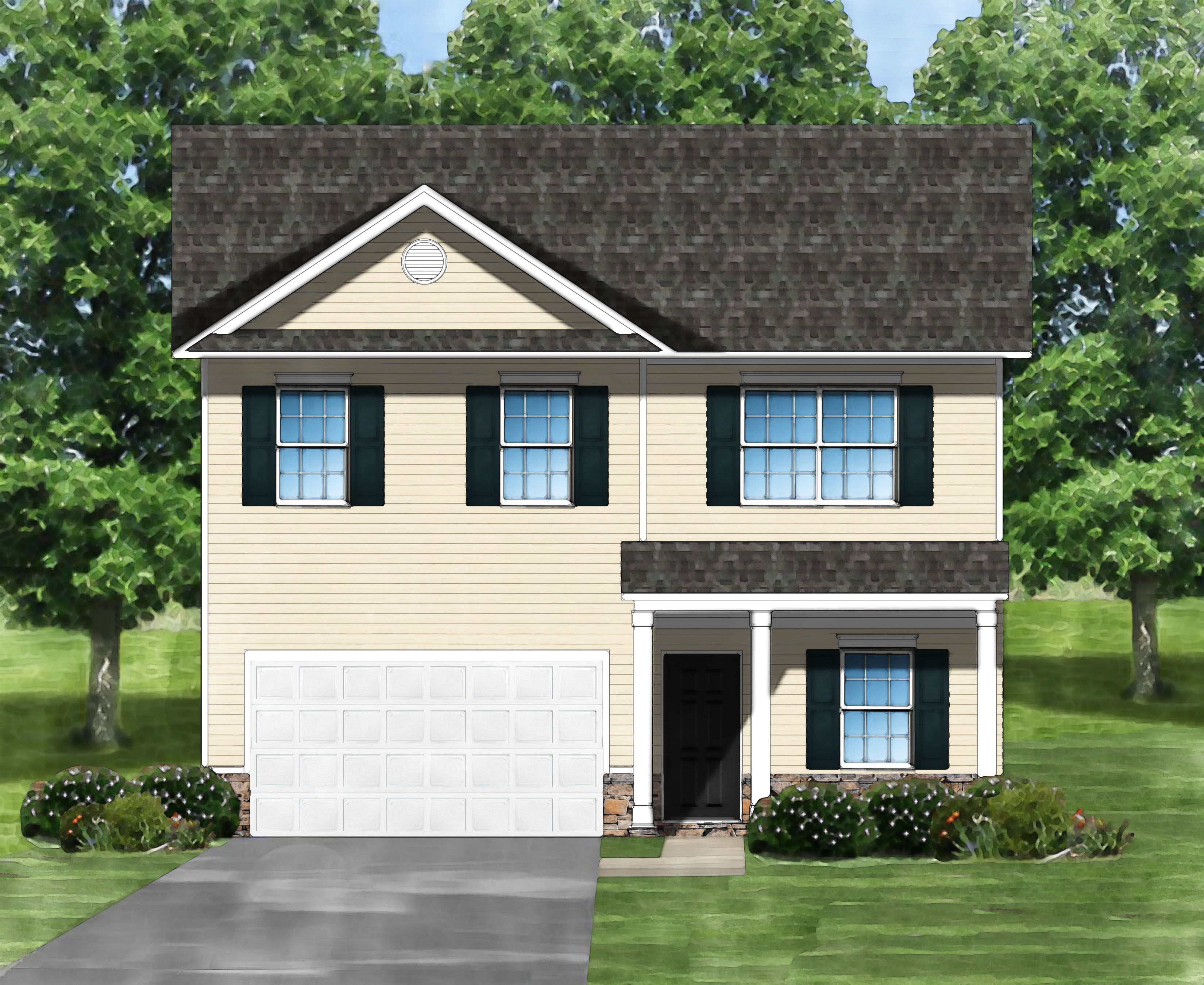 Exterior featured in the Bentcreek A By Great Southern Homes in Greenville-Spartanburg, SC