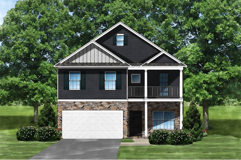 Exterior featured in the Kingstree II C6 By Great Southern Homes in Florence, SC