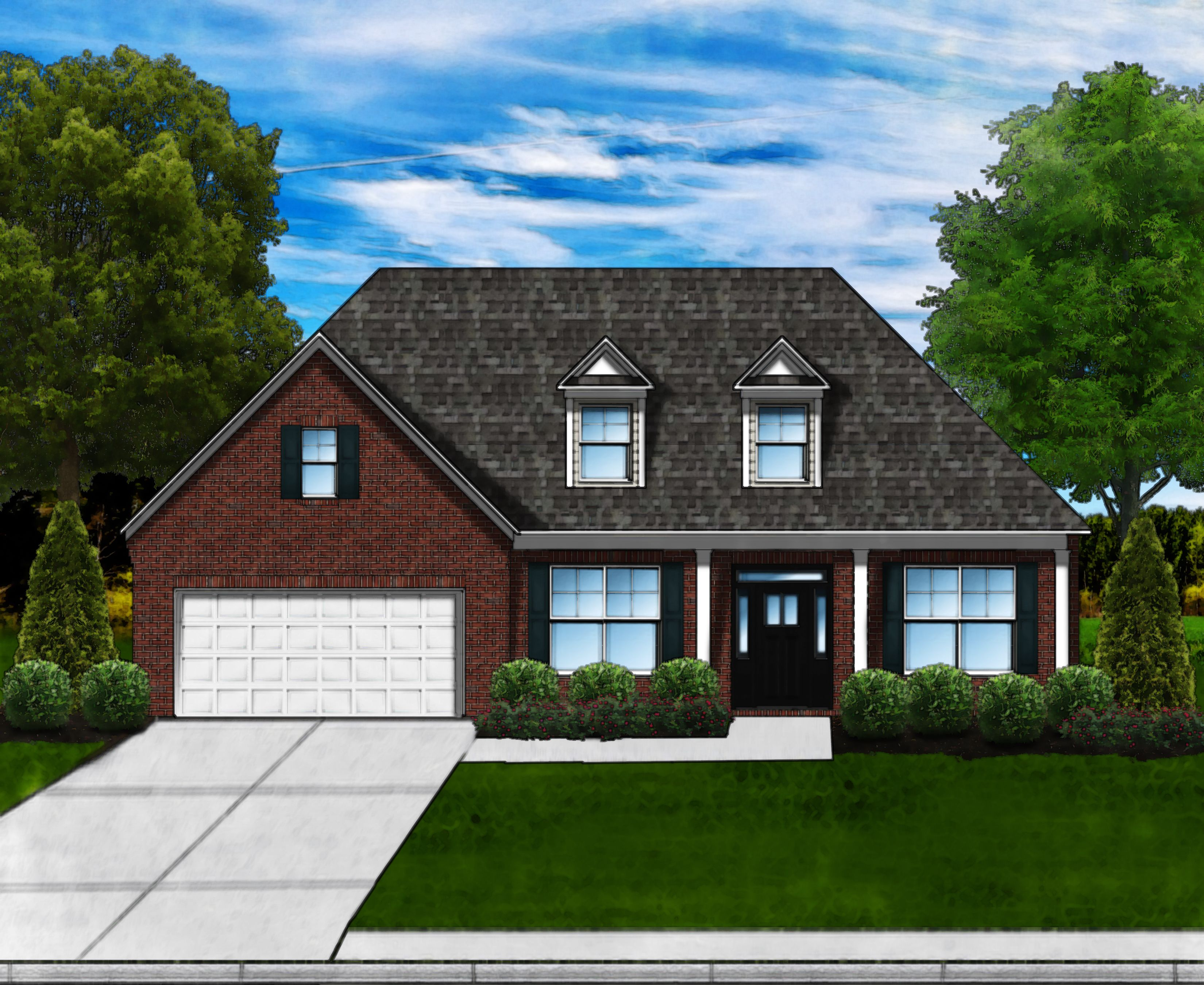 Exterior featured in the Magnolia B By Great Southern Homes in Greenville-Spartanburg, SC