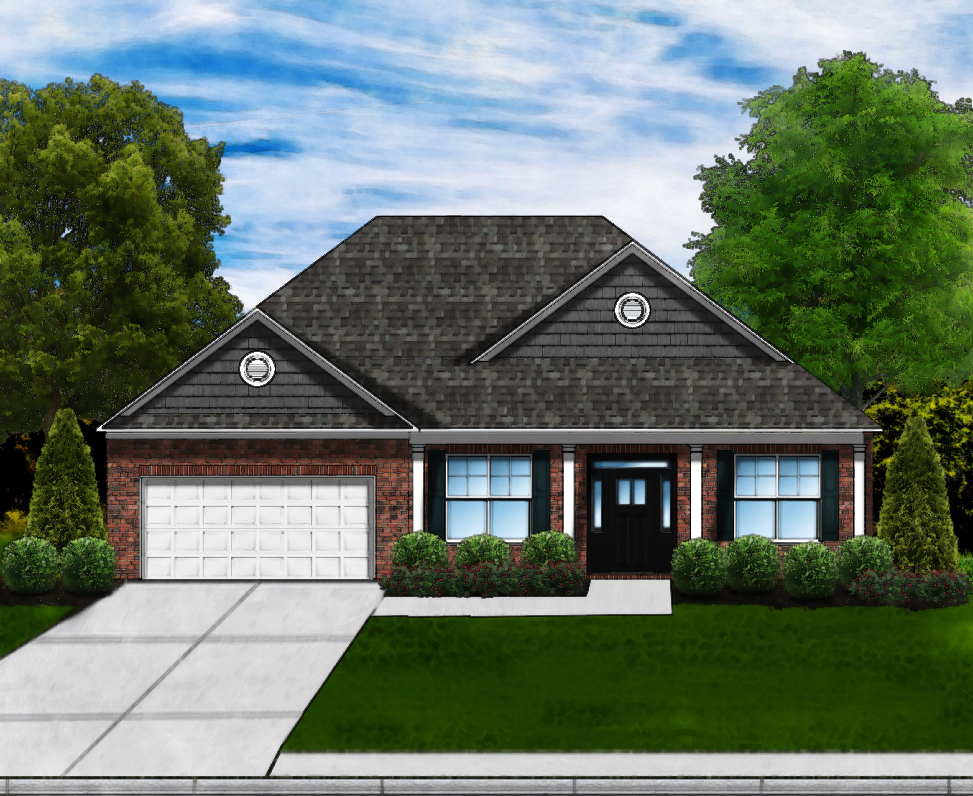 Exterior featured in the Magnolia A By Great Southern Homes in Greenville-Spartanburg, SC