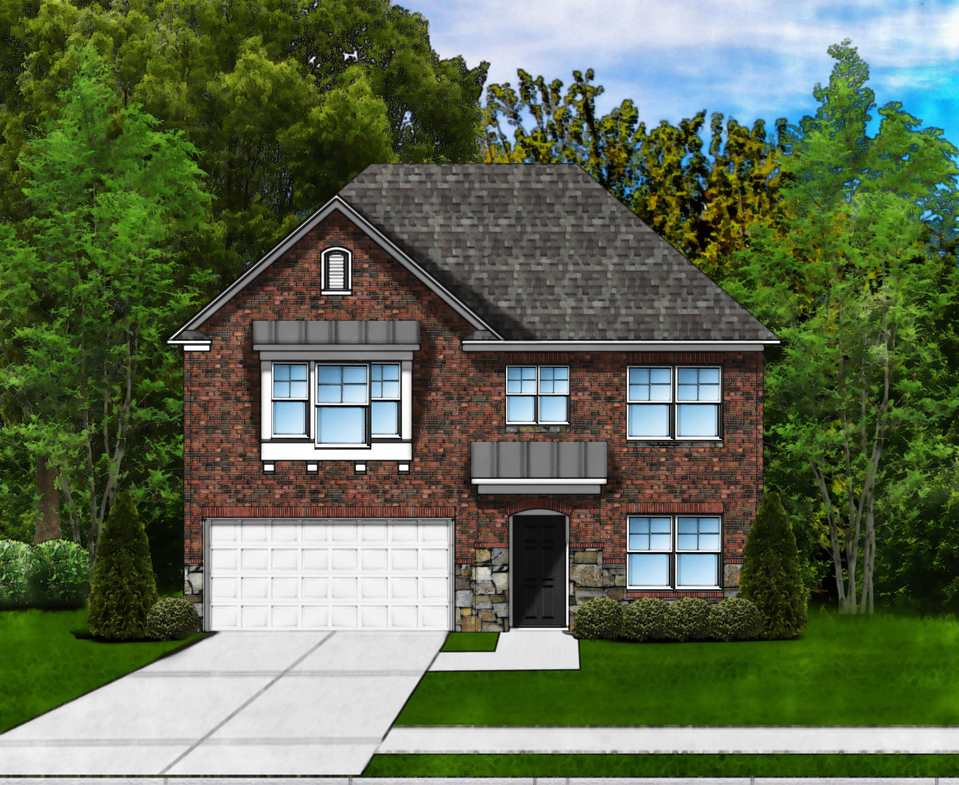 Exterior featured in the Porter II C4 By Great Southern Homes in Sumter, SC