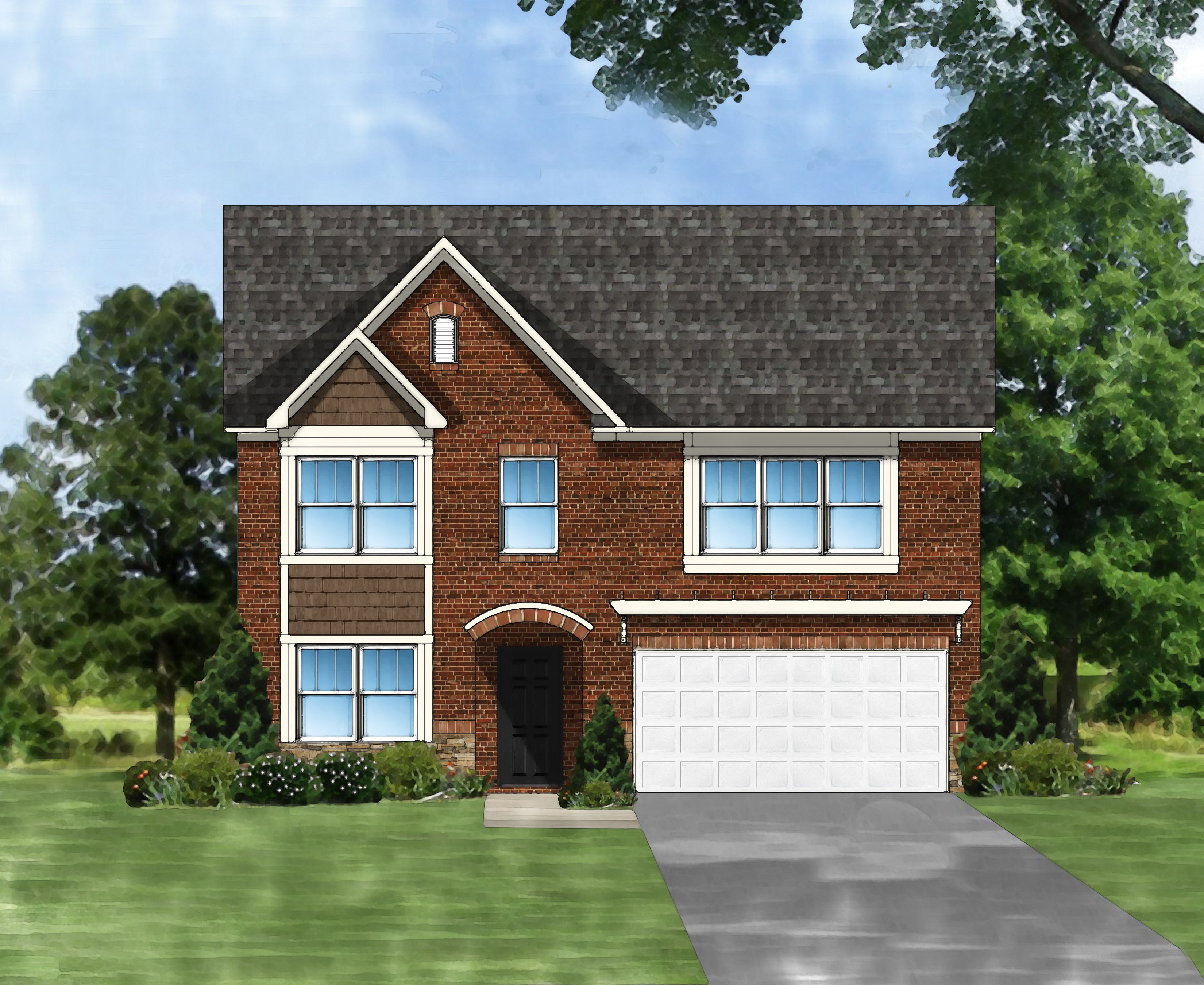 Exterior featured in the Porter II D4 By Great Southern Homes in Greenville-Spartanburg, SC