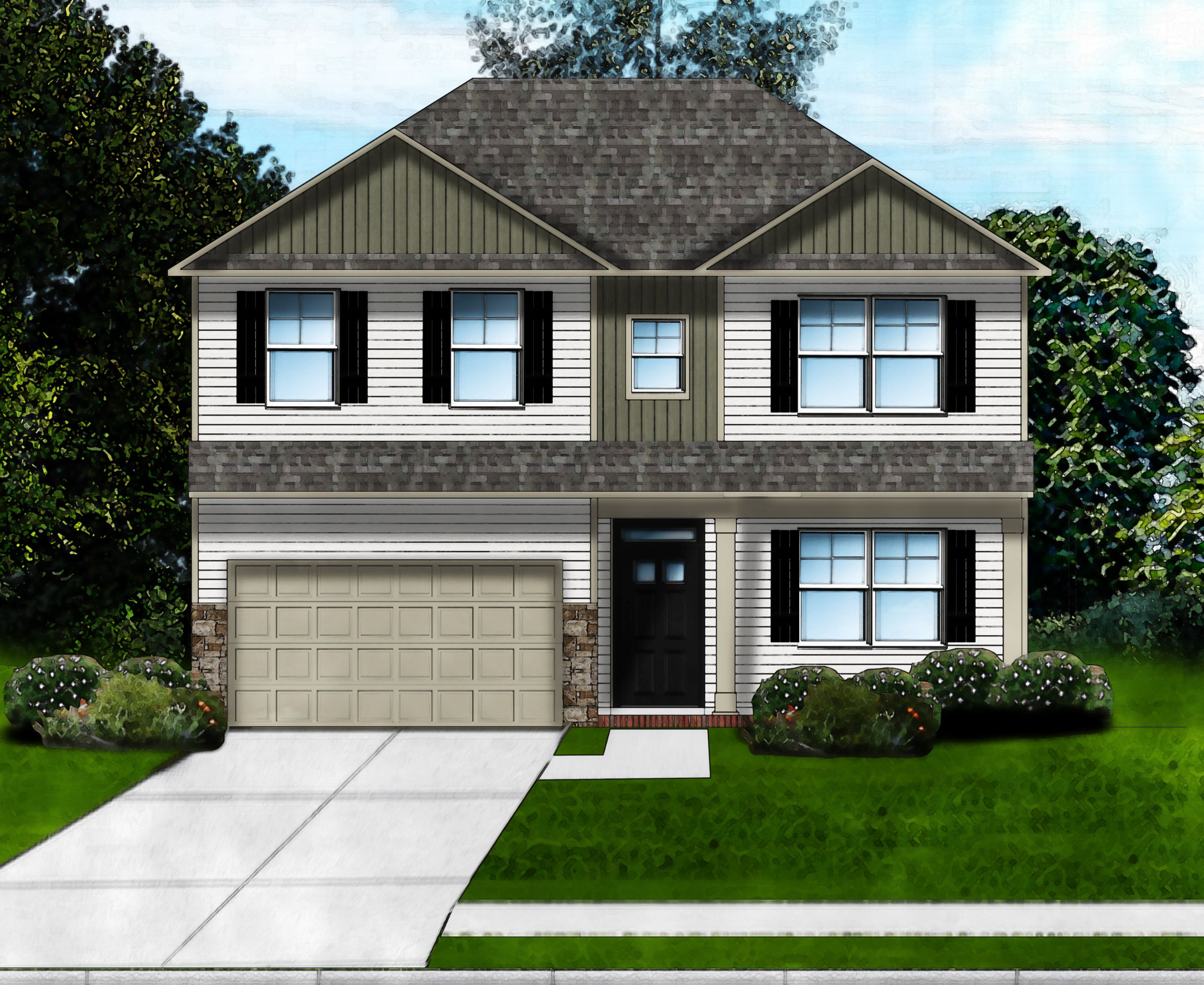 Exterior featured in the Riverbend B By Great Southern Homes in Columbia, SC