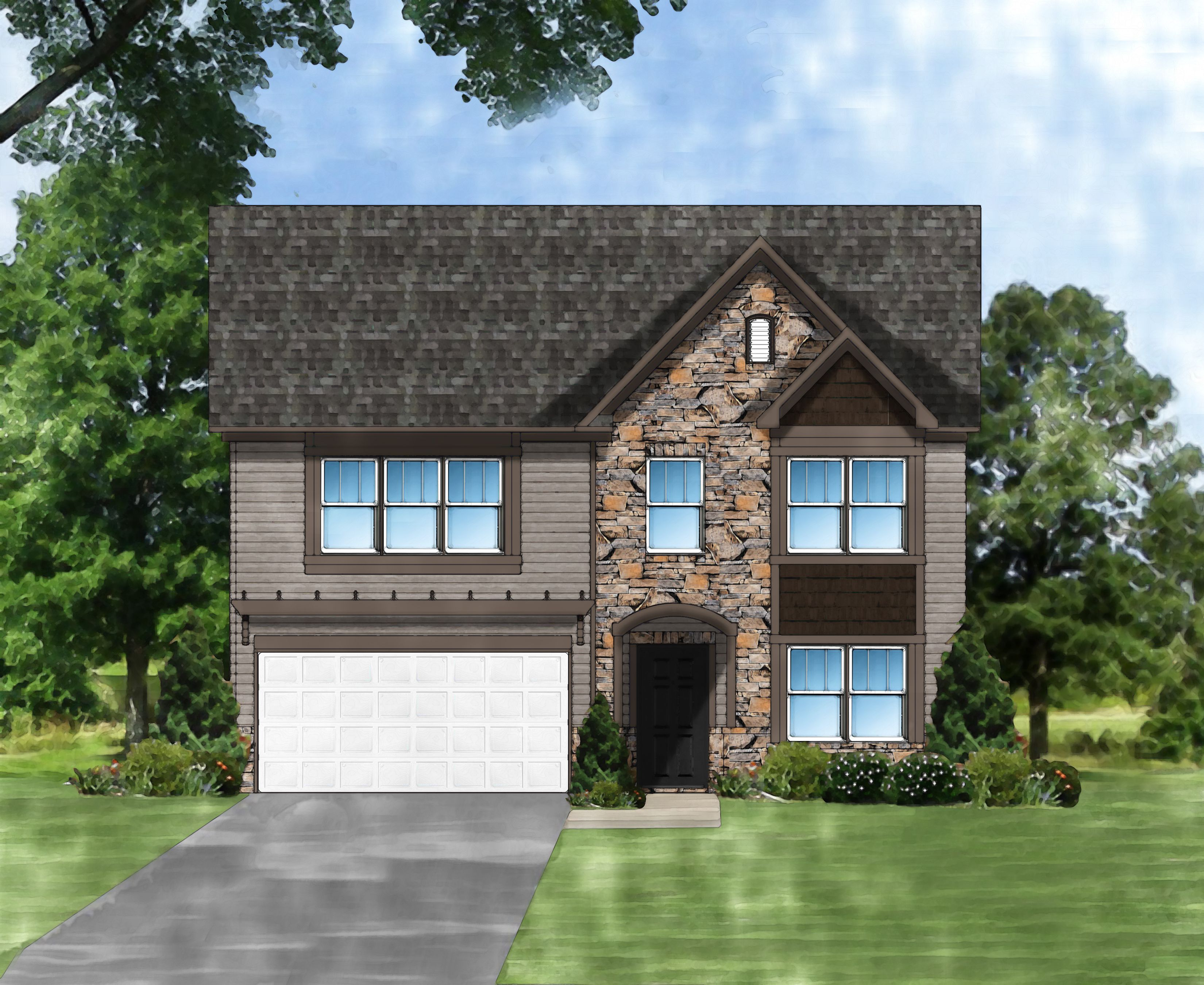 Exterior featured in the Porter F By Great Southern Homes in Florence, SC