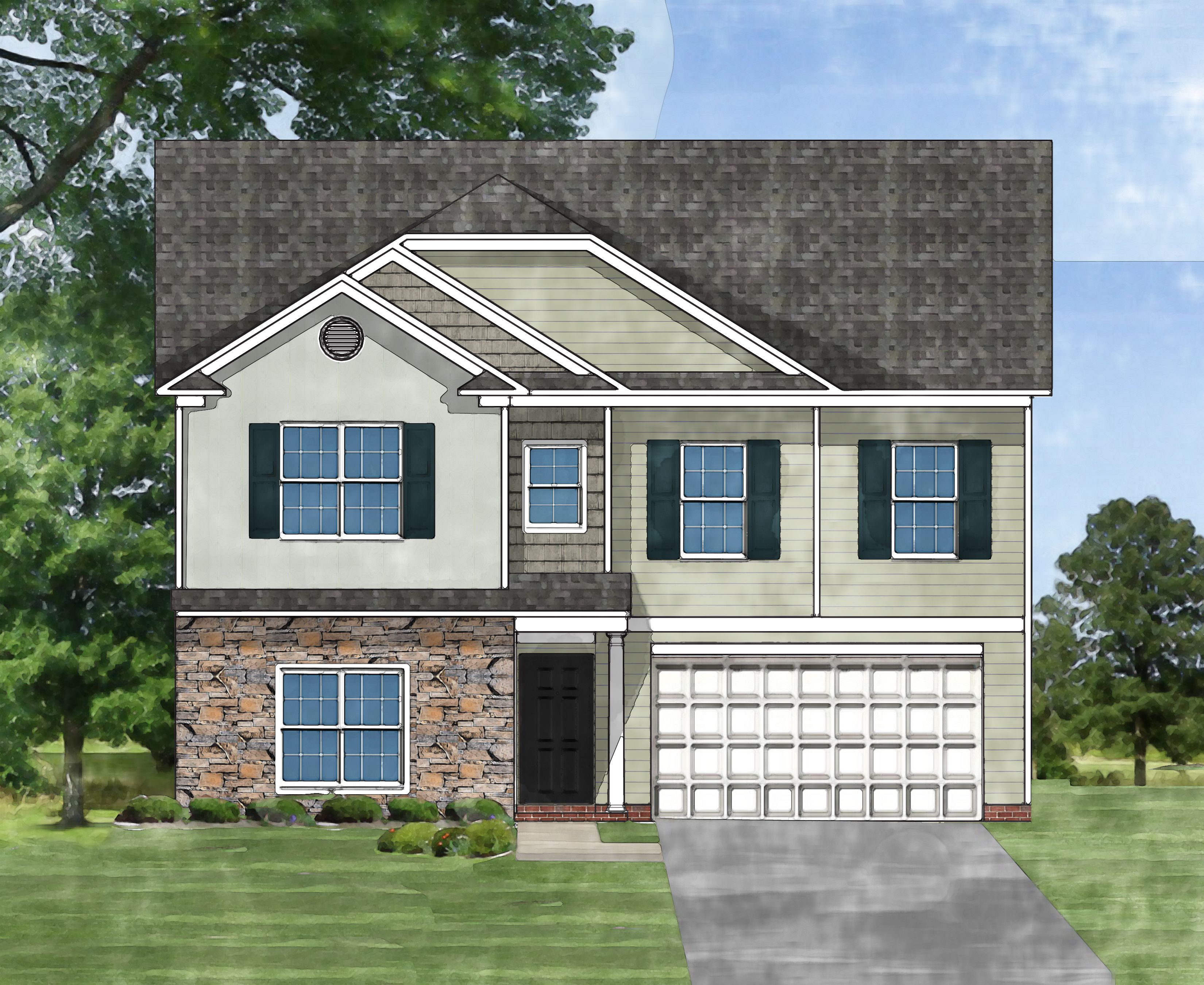 Exterior featured in the Devonshire A By Great Southern Homes in Sumter, SC