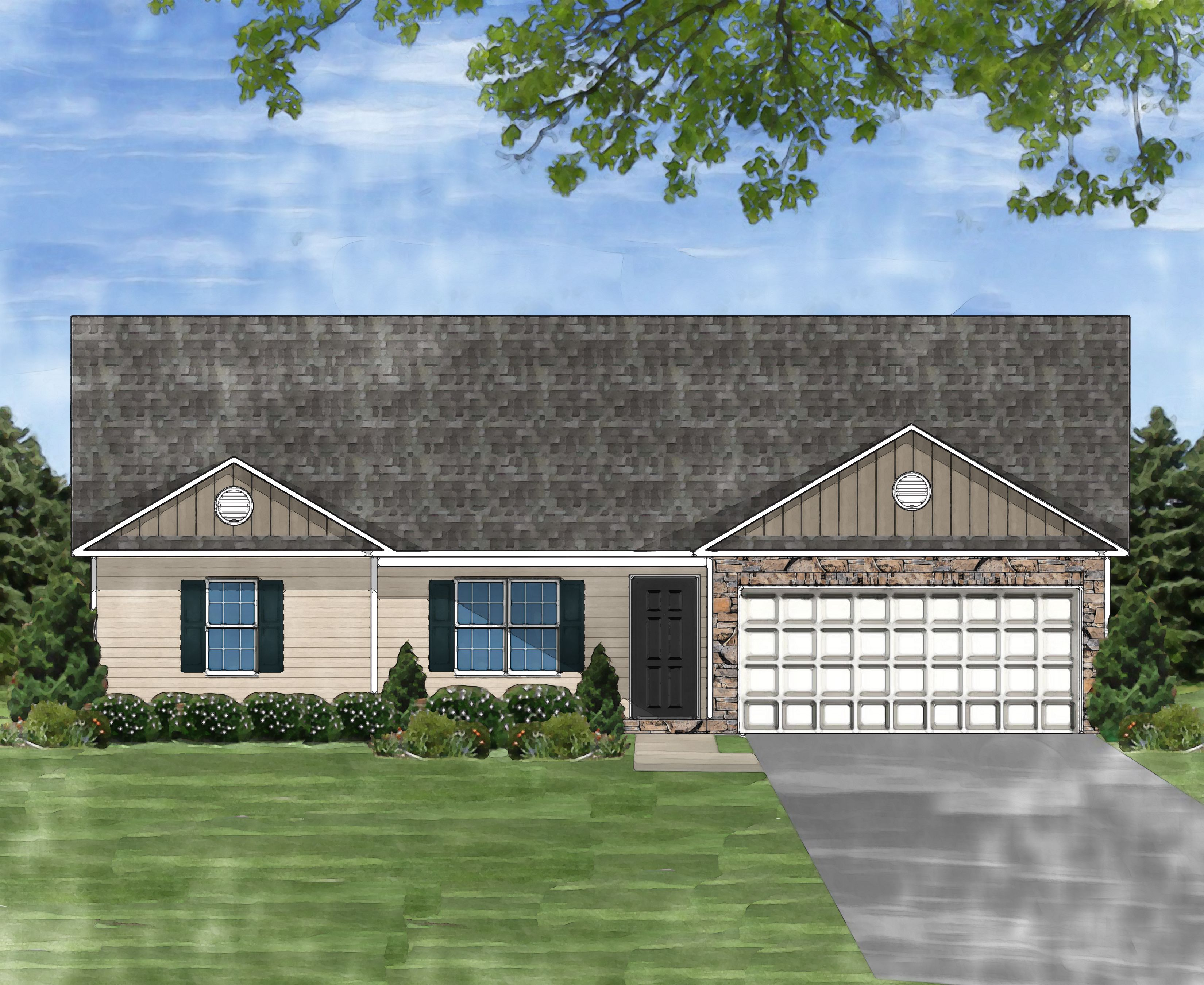 Exterior featured in the Darlington A By Great Southern Homes in Greenville-Spartanburg, SC