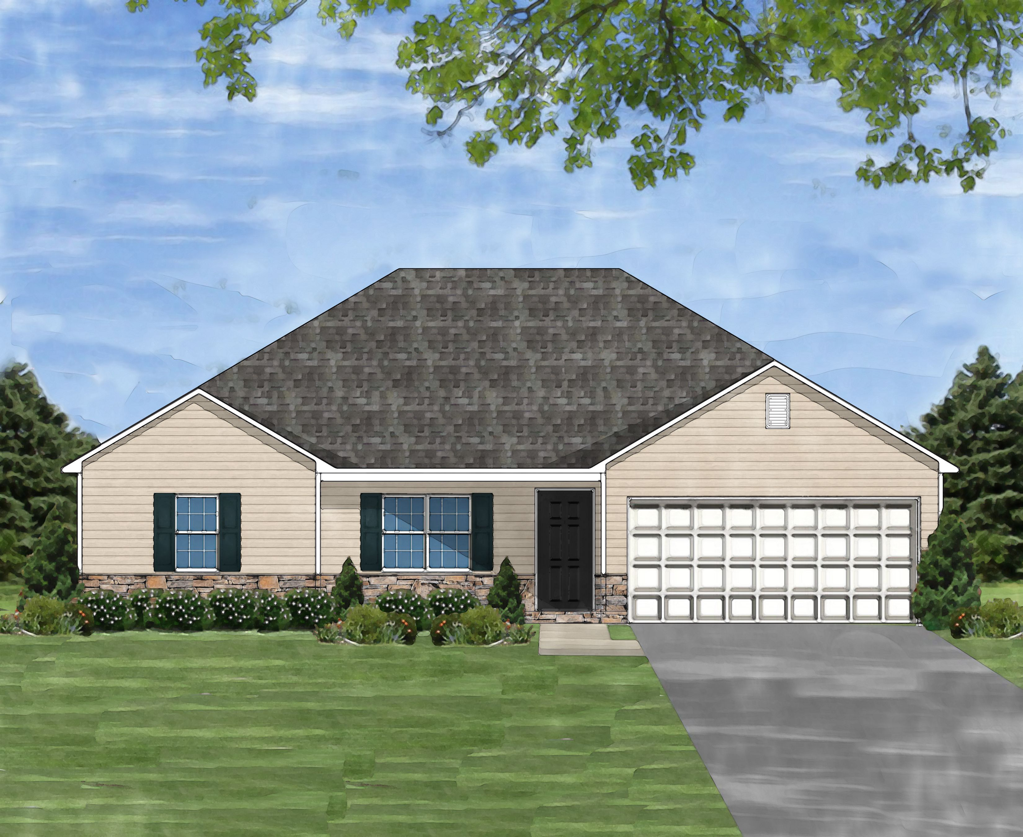 Exterior featured in the Darlington B By Great Southern Homes in Greenville-Spartanburg, SC