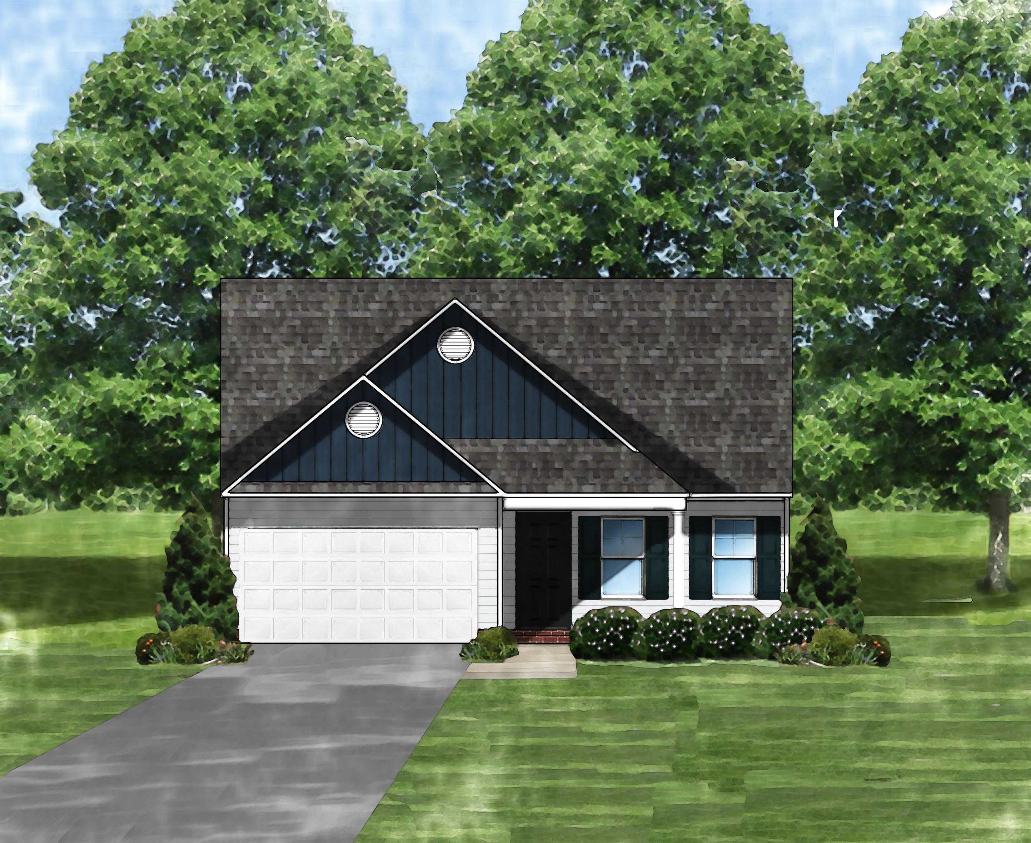 Exterior featured in the Buckley II B By Great Southern Homes in Augusta, SC