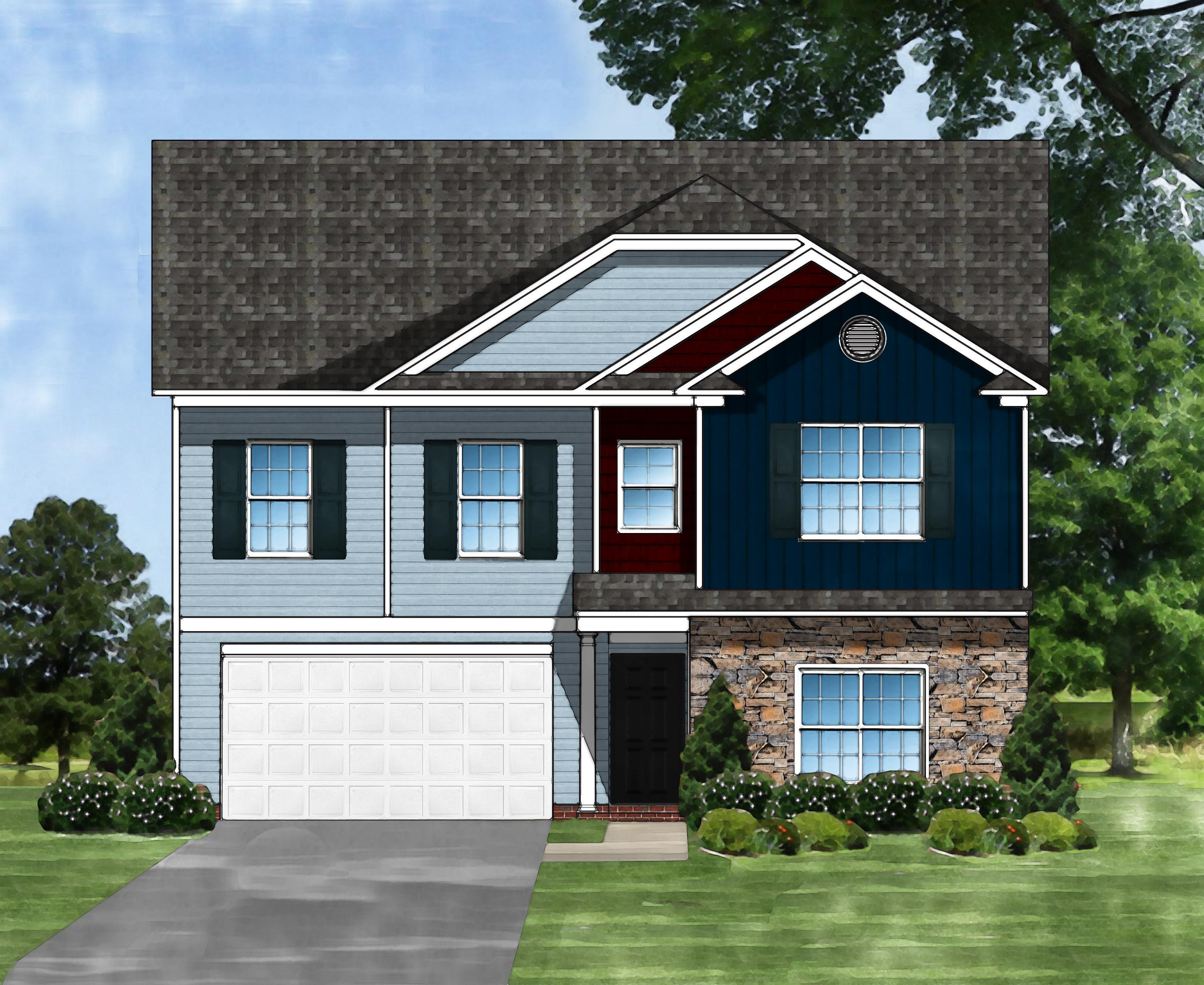 Exterior featured in the Devonshire II A By Great Southern Homes in Columbia, SC