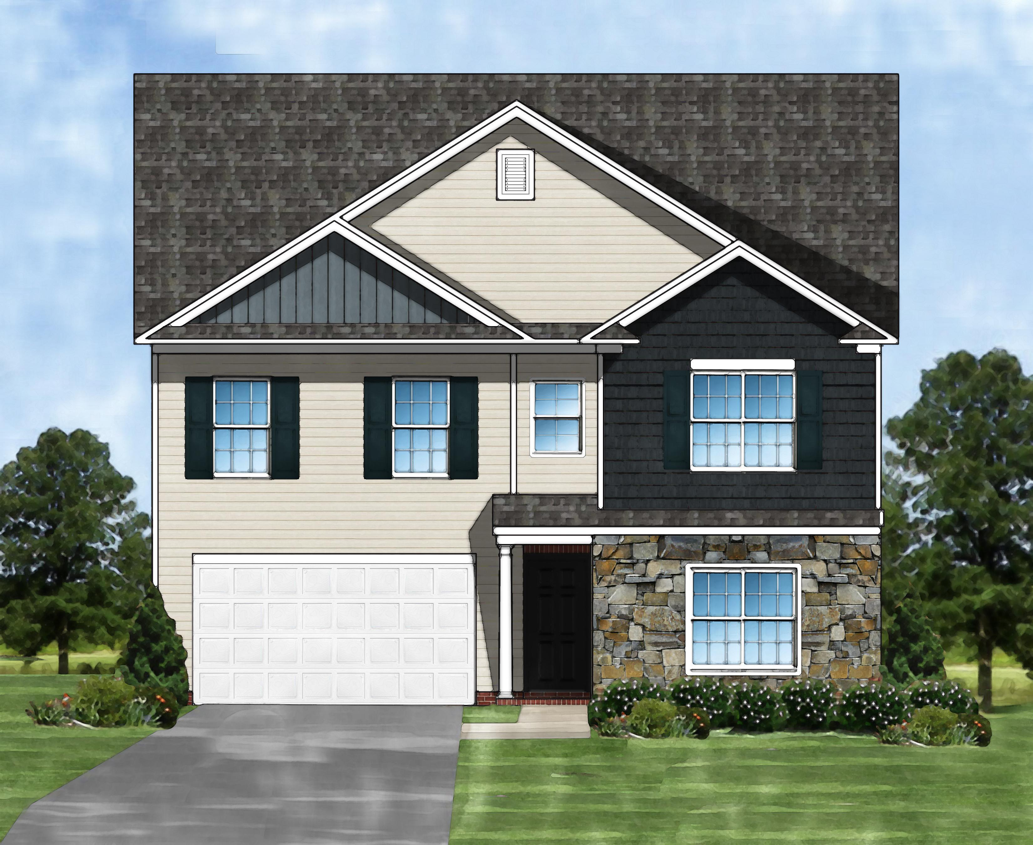 Exterior featured in the Devonshire II B By Great Southern Homes in Columbia, SC