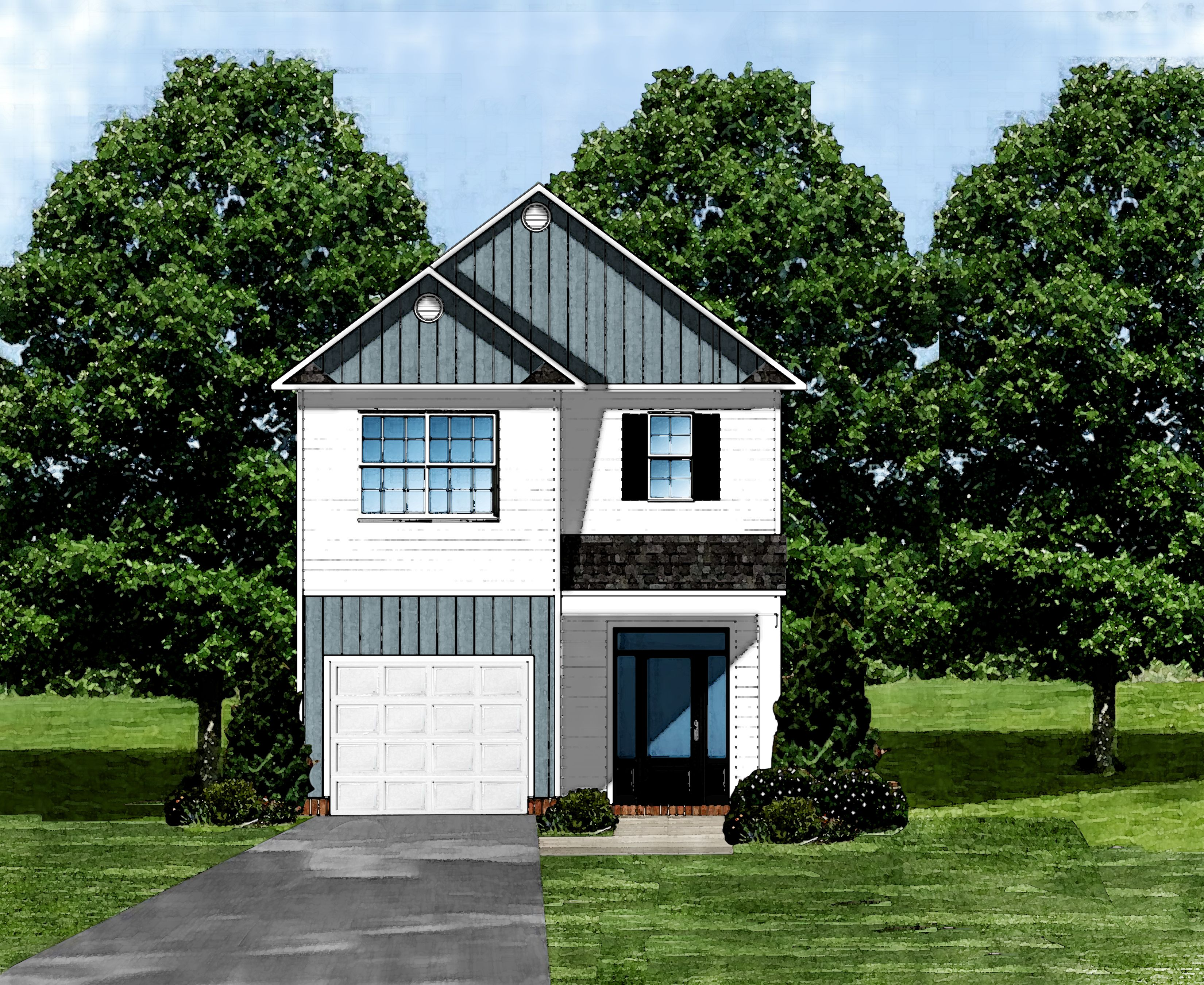 Exterior featured in the Pritchard B By Great Southern Homes in Greenville-Spartanburg, SC