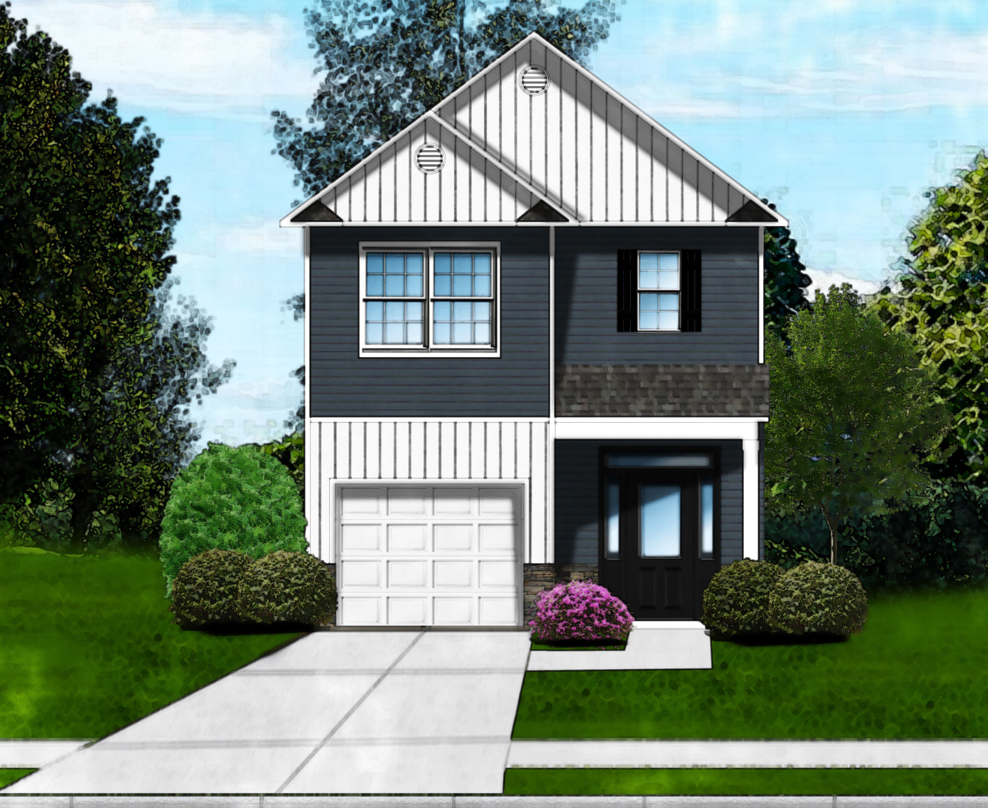 Exterior featured in the Pritchard D By Great Southern Homes in Greenville-Spartanburg, SC
