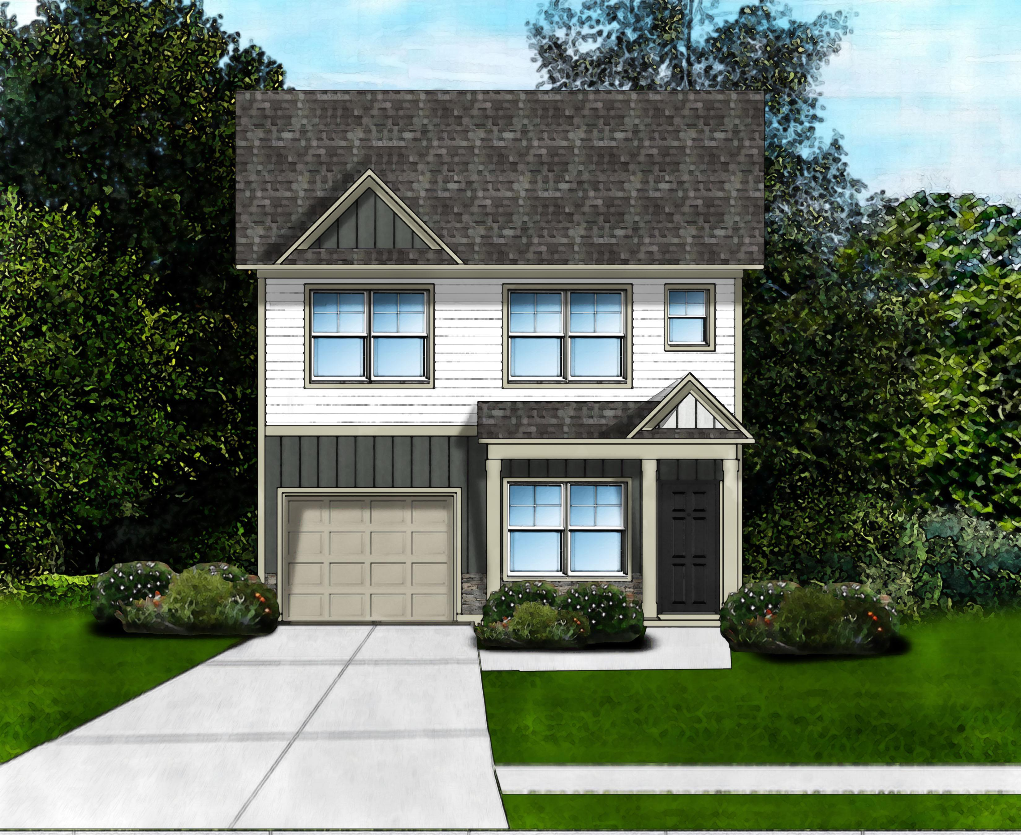 Exterior featured in the Hillcrest D6 By Great Southern Homes in Greenville-Spartanburg, SC