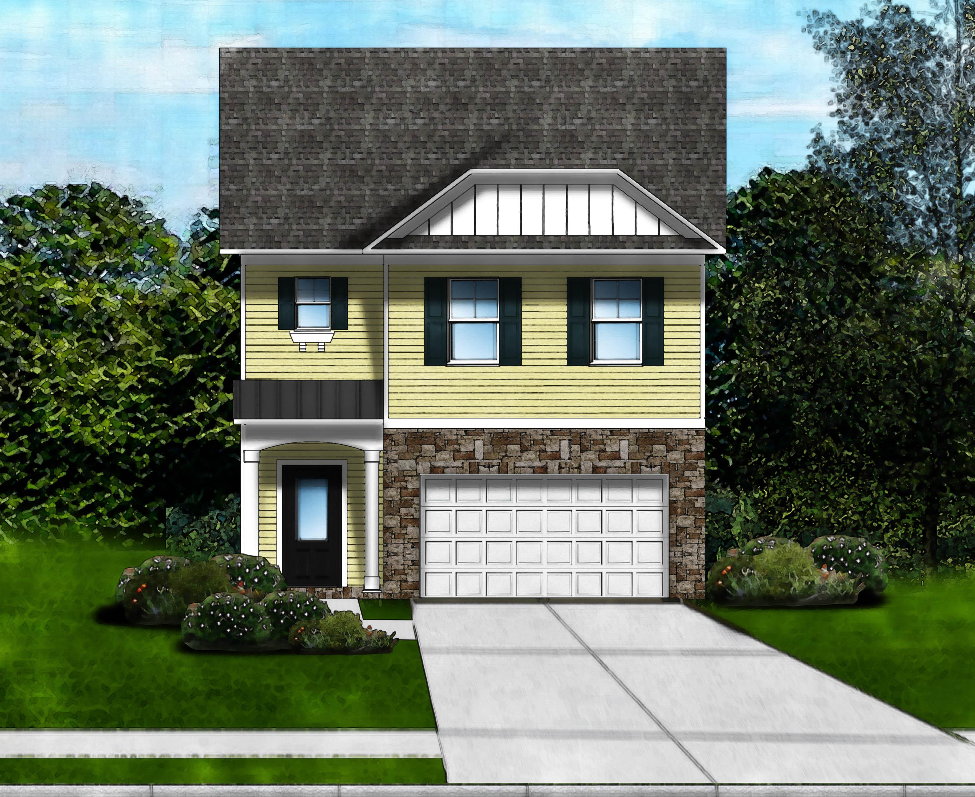 Exterior featured in the Crestfall B By Great Southern Homes in Greenville-Spartanburg, SC