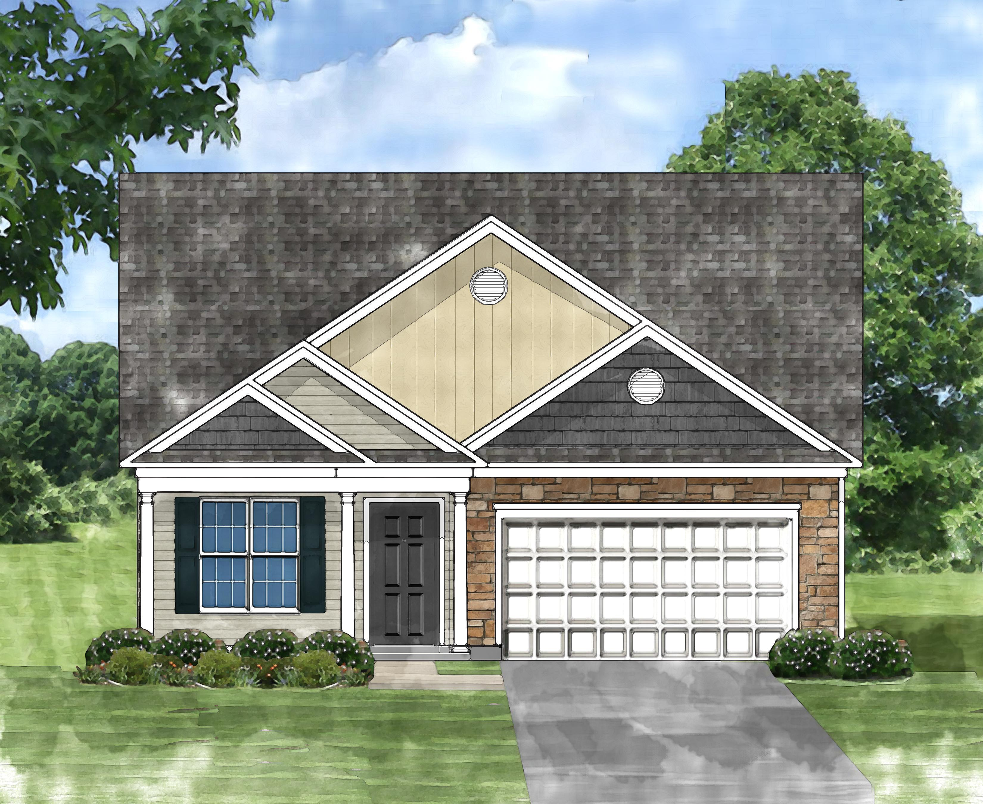 Exterior featured in the Queenstown C By Great Southern Homes in Florence, SC