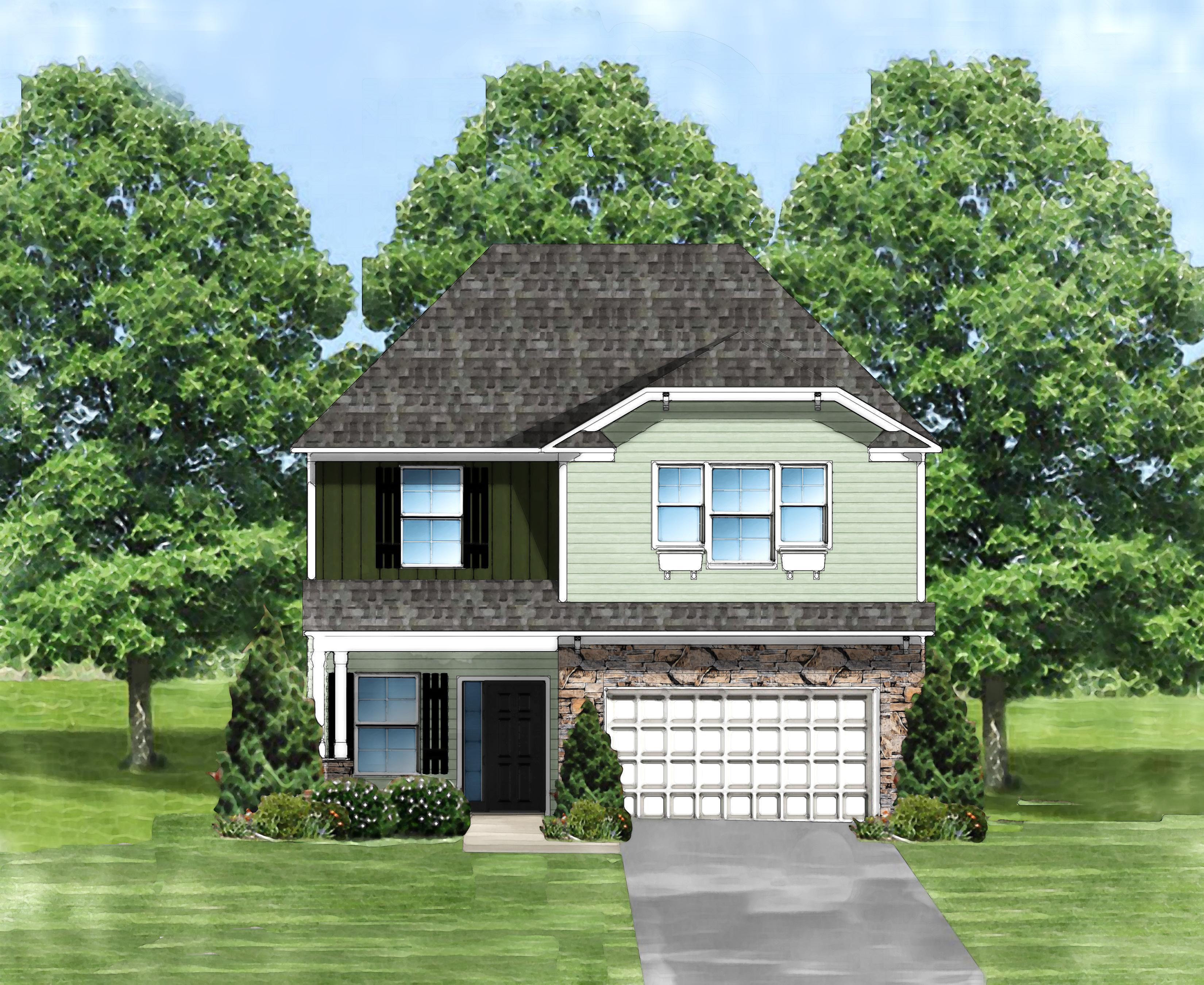 Exterior featured in the Harper C By Great Southern Homes in Greenville-Spartanburg, SC