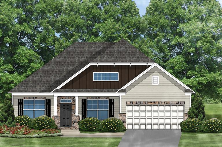 Exterior featured in the Gardenia C By Great Southern Homes in Greenville-Spartanburg, SC