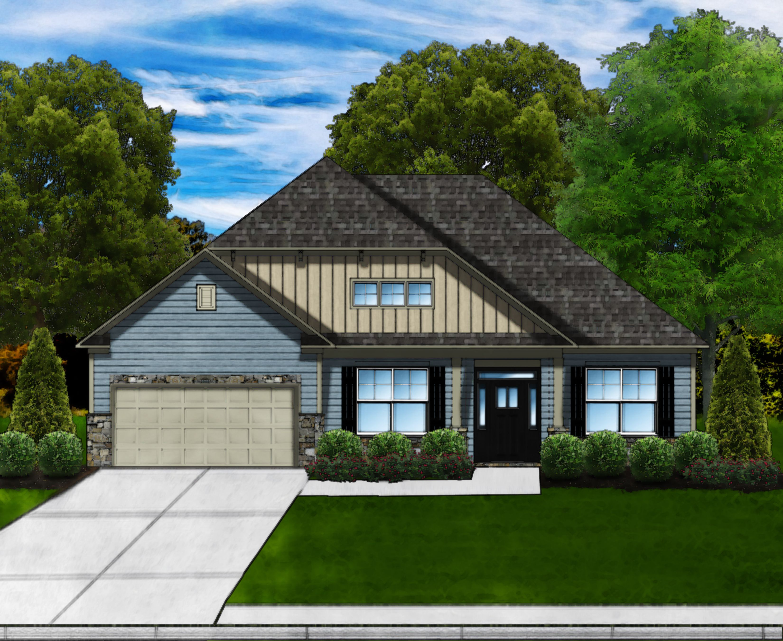 Exterior featured in the Magnolia C3 By Great Southern Homes in Greenville-Spartanburg, SC