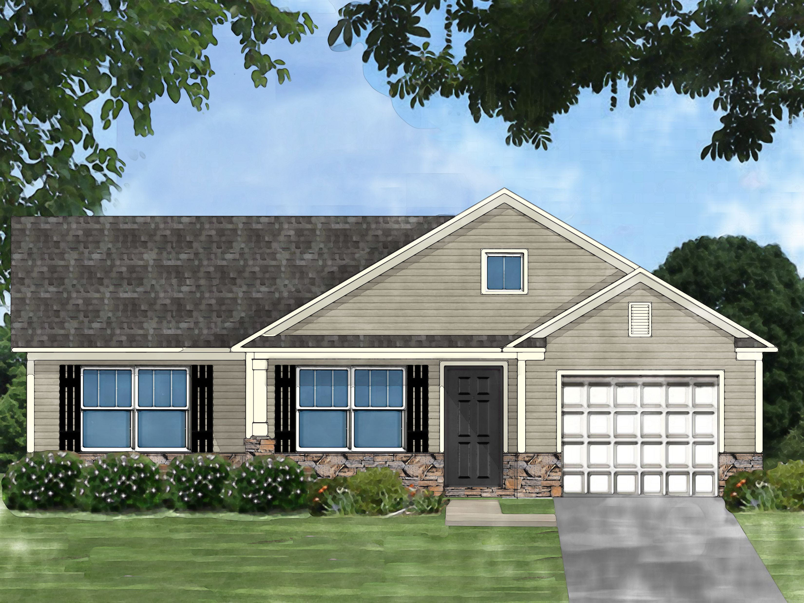 Exterior featured in the Pocono C By Great Southern Homes in Greenville-Spartanburg, SC