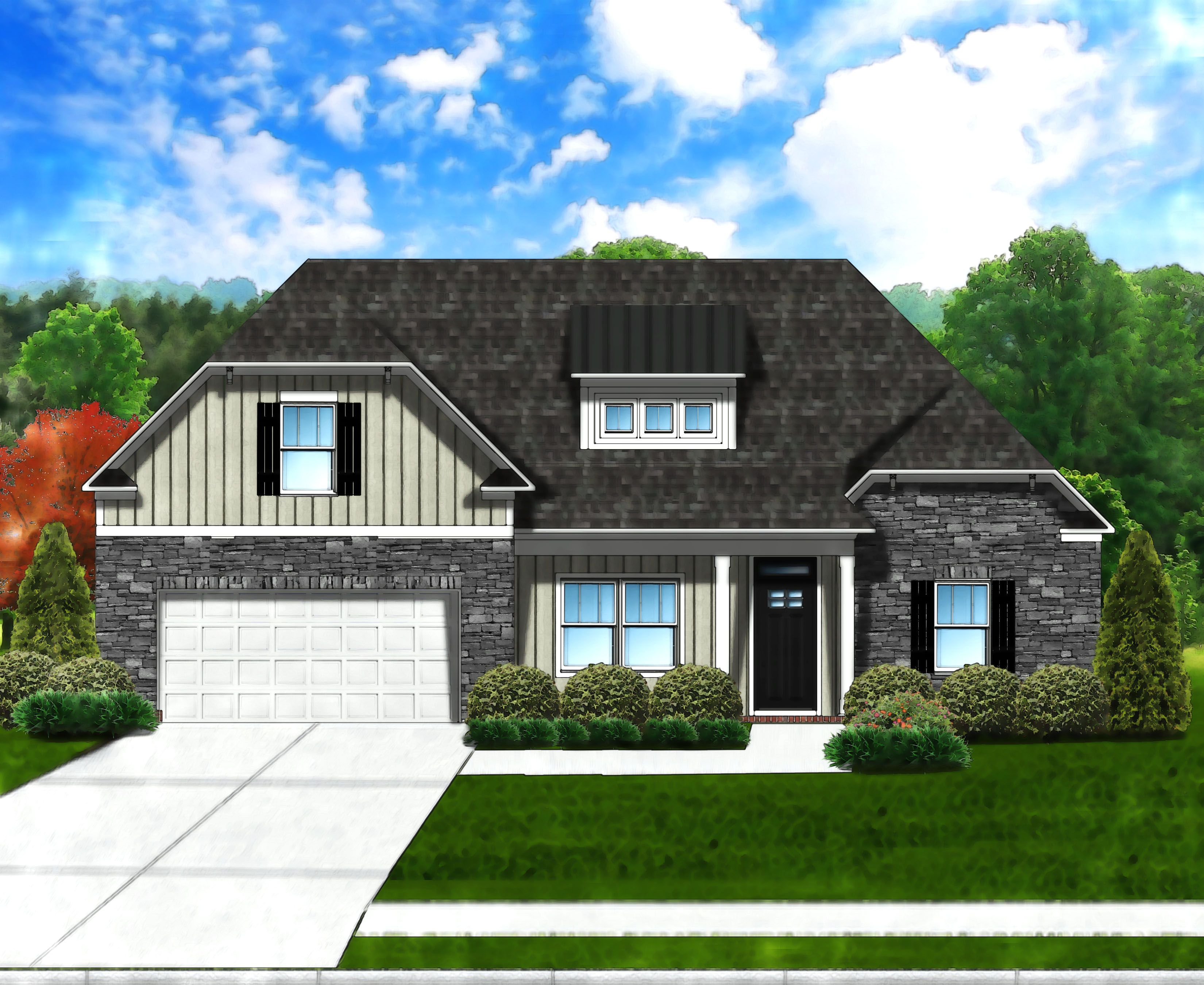 Exterior featured in the Edisto II C6 By Great Southern Homes in Greenville-Spartanburg, SC