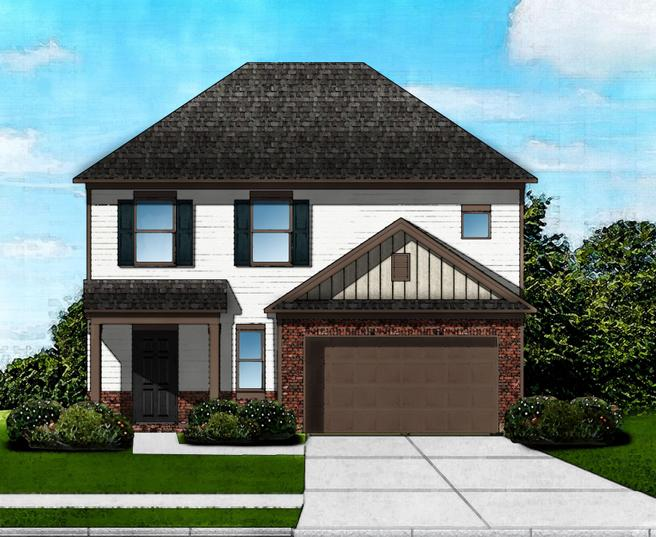 Hawthorne A2 - Brick Front