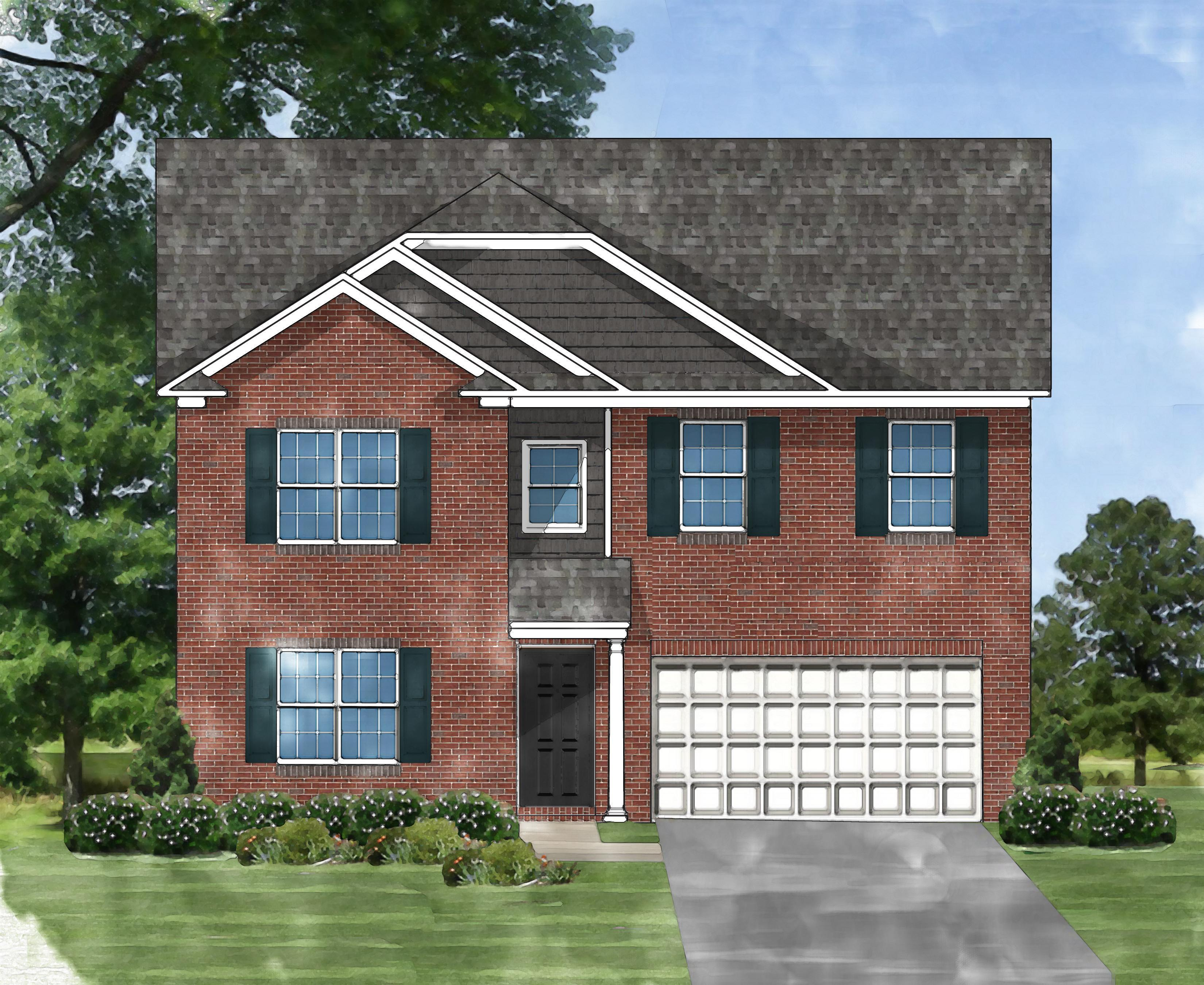 Exterior featured in the Devonshire C2 By Great Southern Homes in Florence, SC