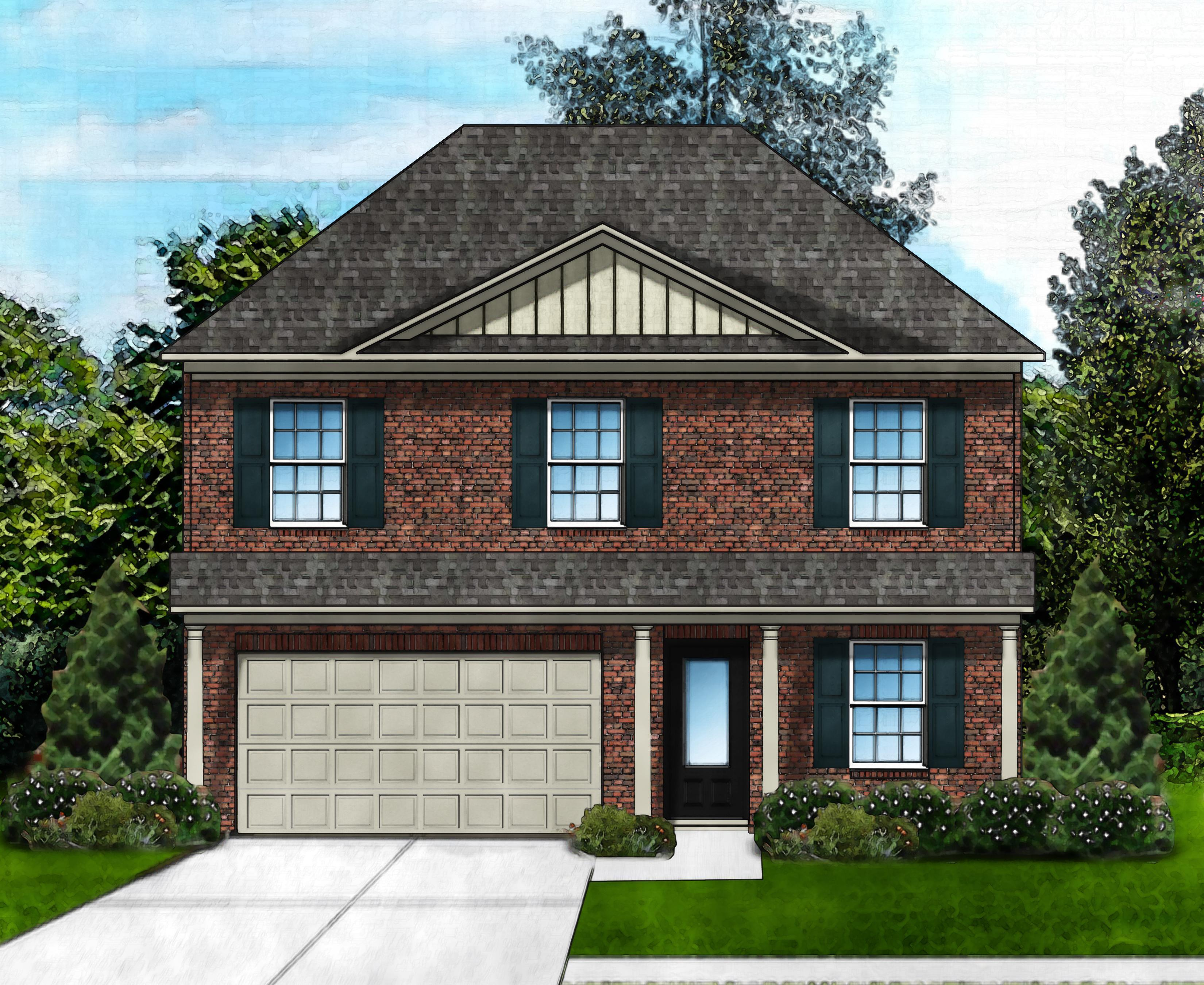 Exterior featured in the Bentgrass E2 (Brick Front) By Great Southern Homes in Florence, SC