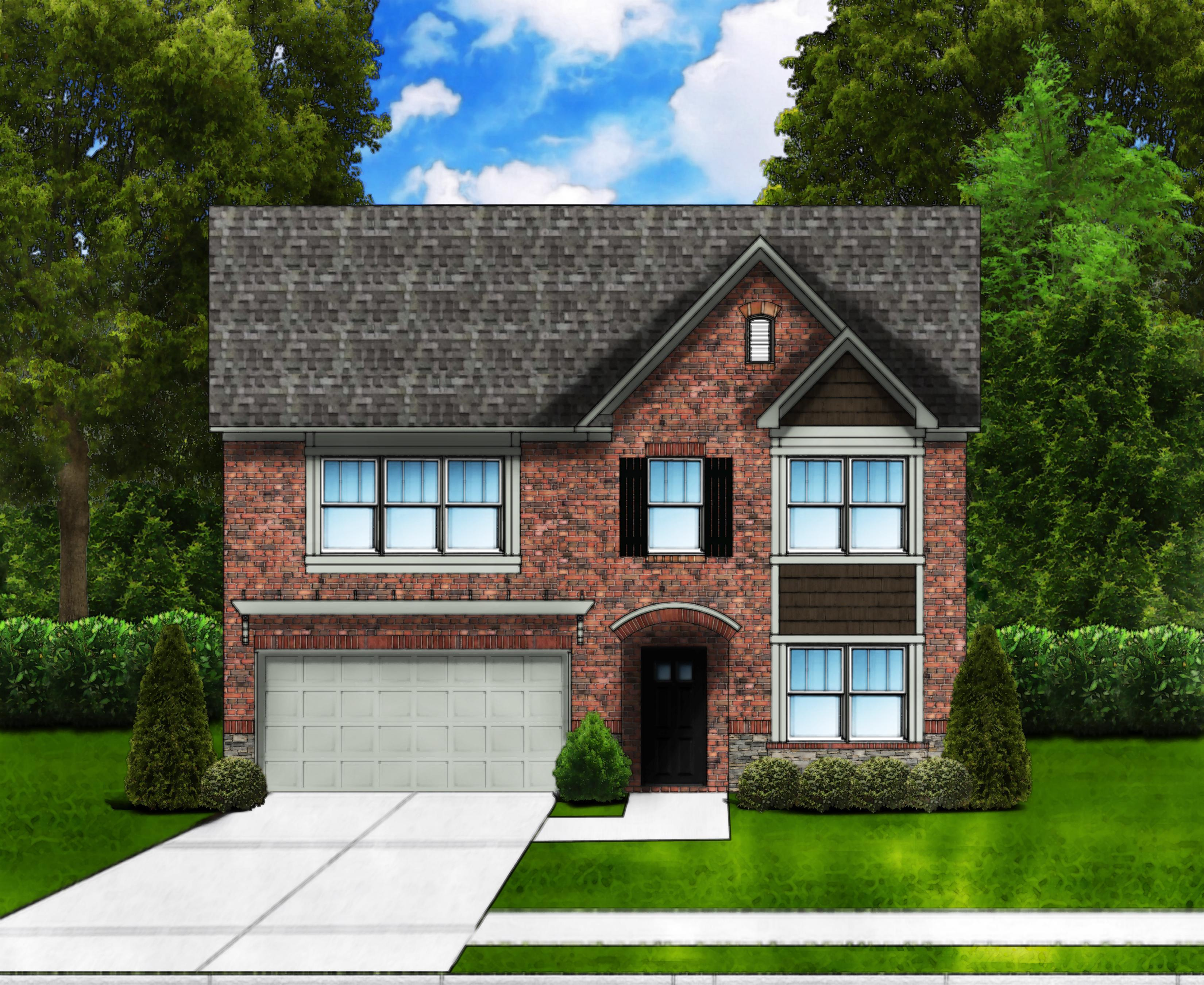 Exterior featured in the Porter D2 (Brick Front) By Great Southern Homes in Florence, SC