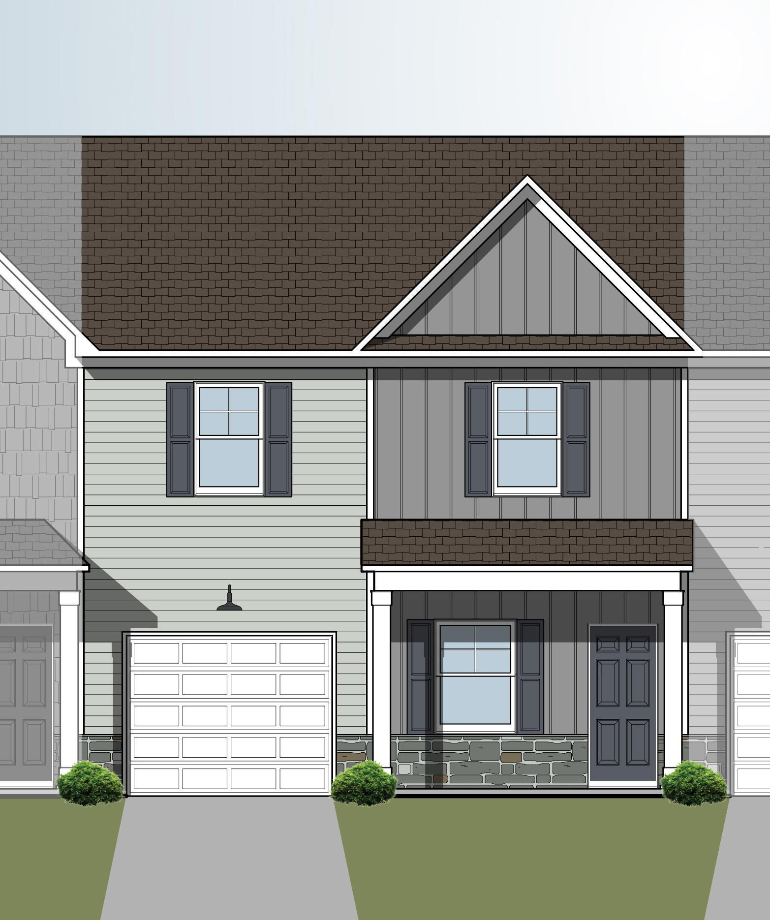 Exterior featured in the Mountain Crest B By Great Southern Homes in Greenville-Spartanburg, SC
