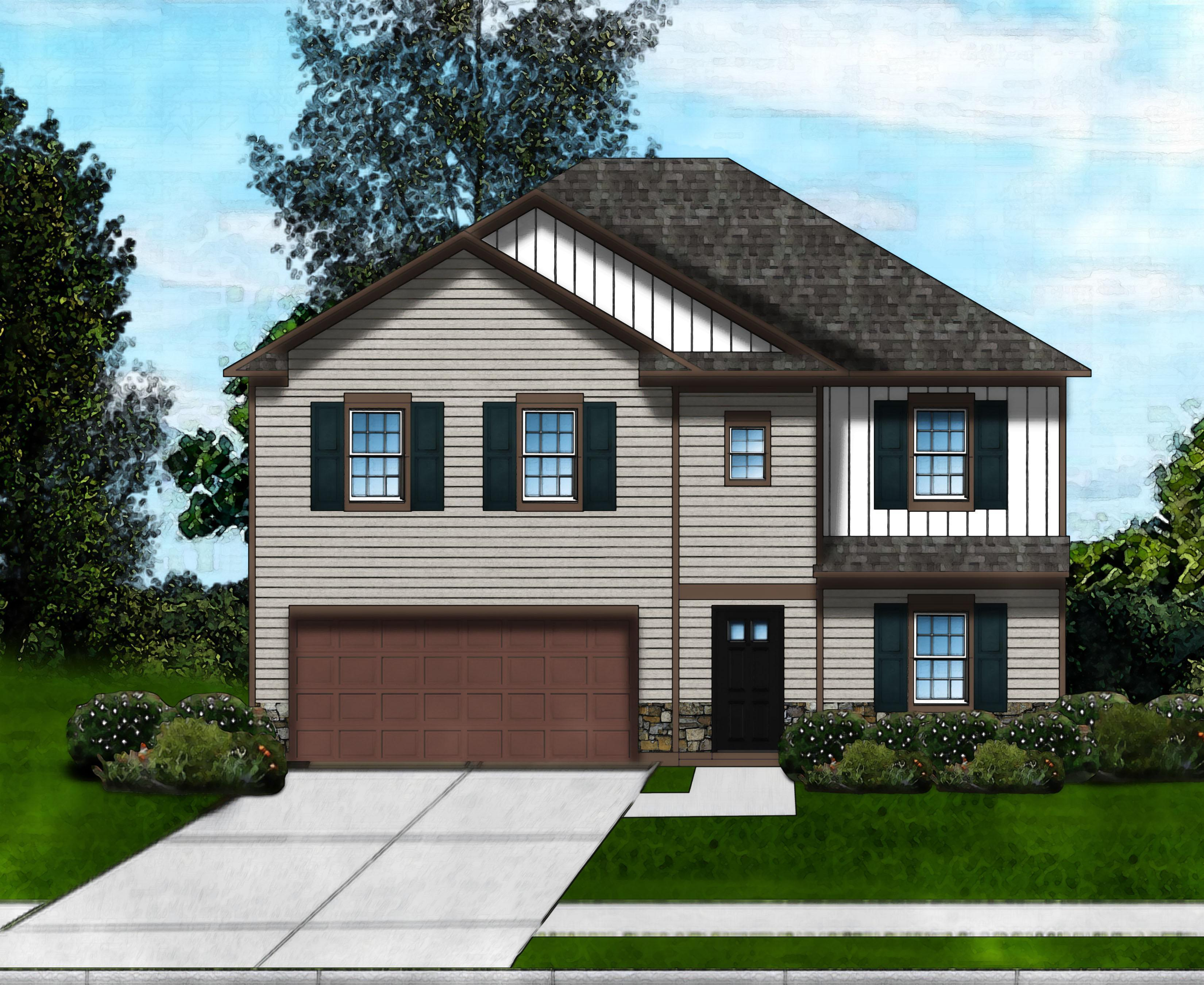 Exterior featured in the Parker C By Great Southern Homes in Florence, SC