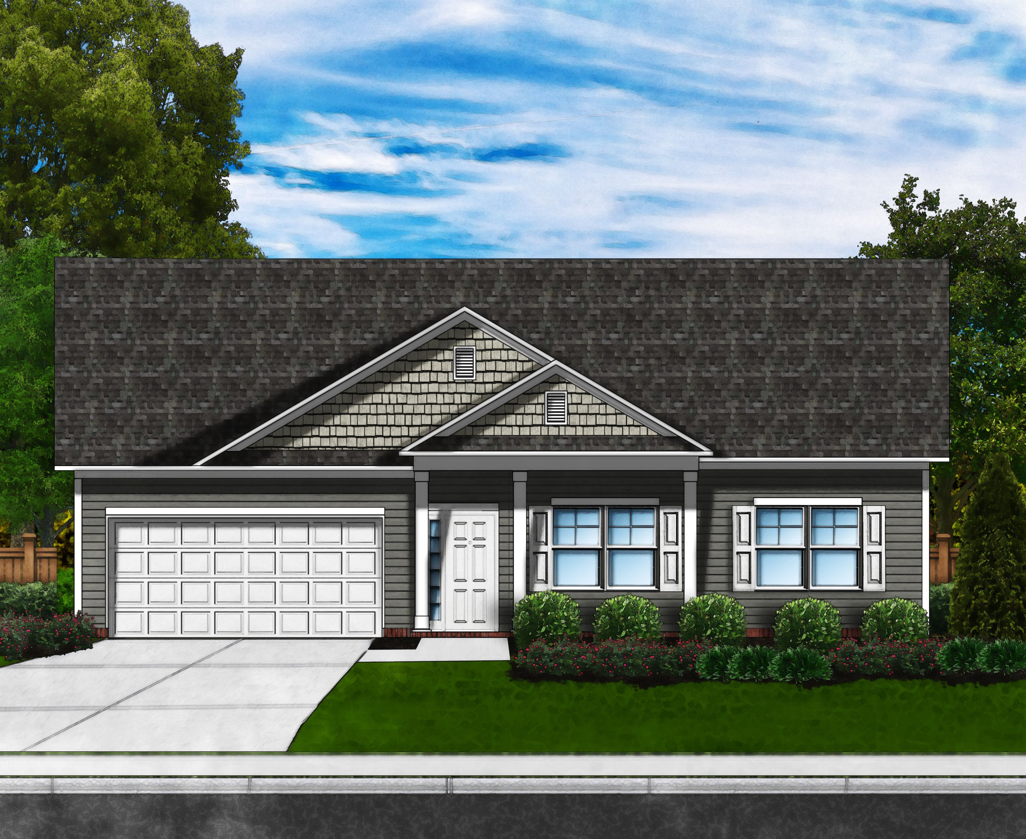 Exterior featured in the Camellia A w/Bonus By Great Southern Homes in Columbia, SC